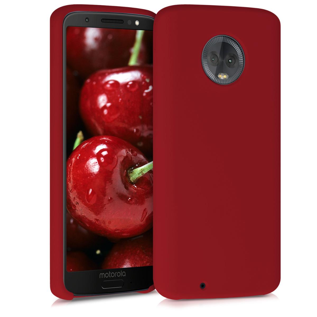 Kvalitní silikonové TPU pouzdro | obal pro Motorola Moto G6 - Červená