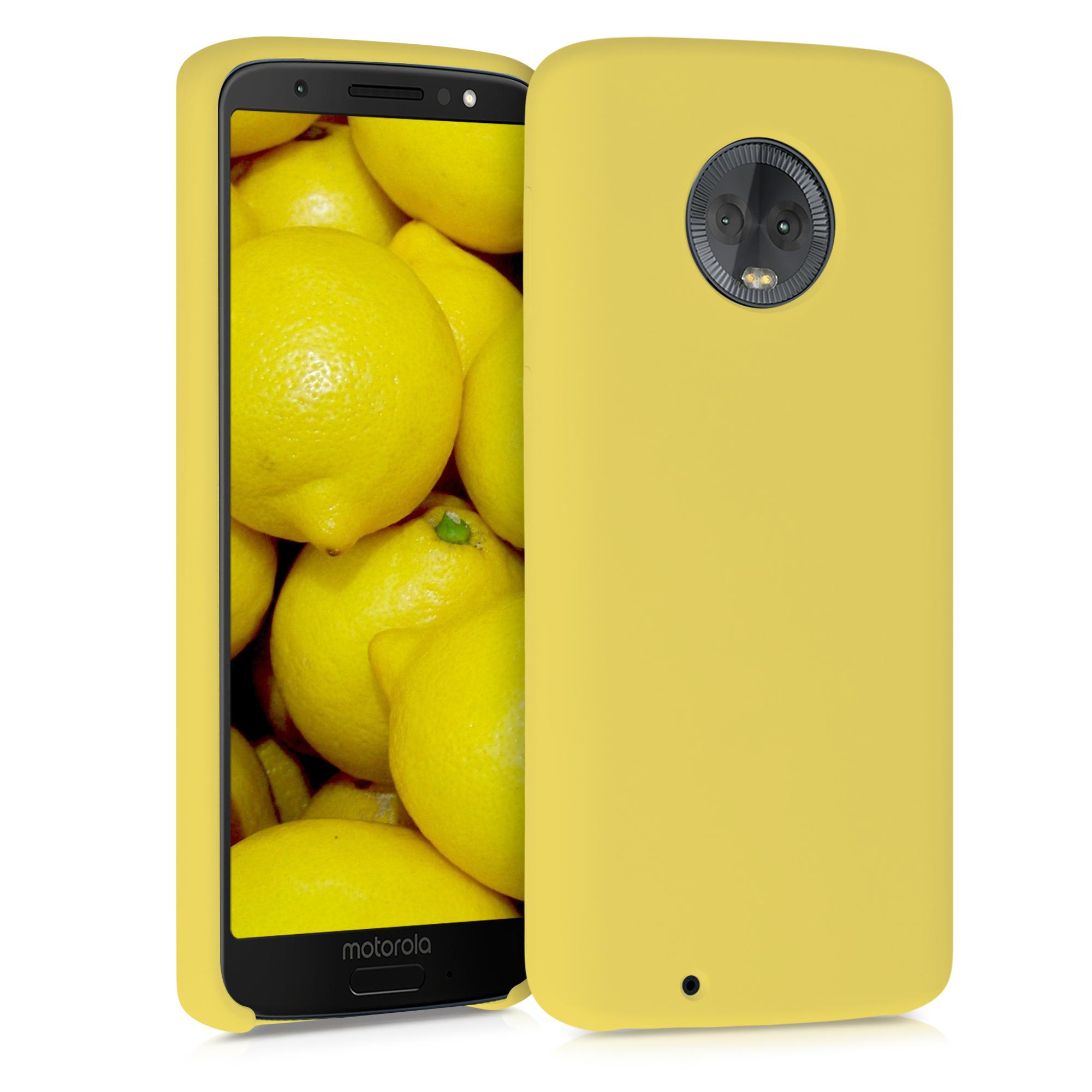 Kvalitní silikonové TPU pouzdro | obal pro Motorola Moto G6 - Světle žlutá