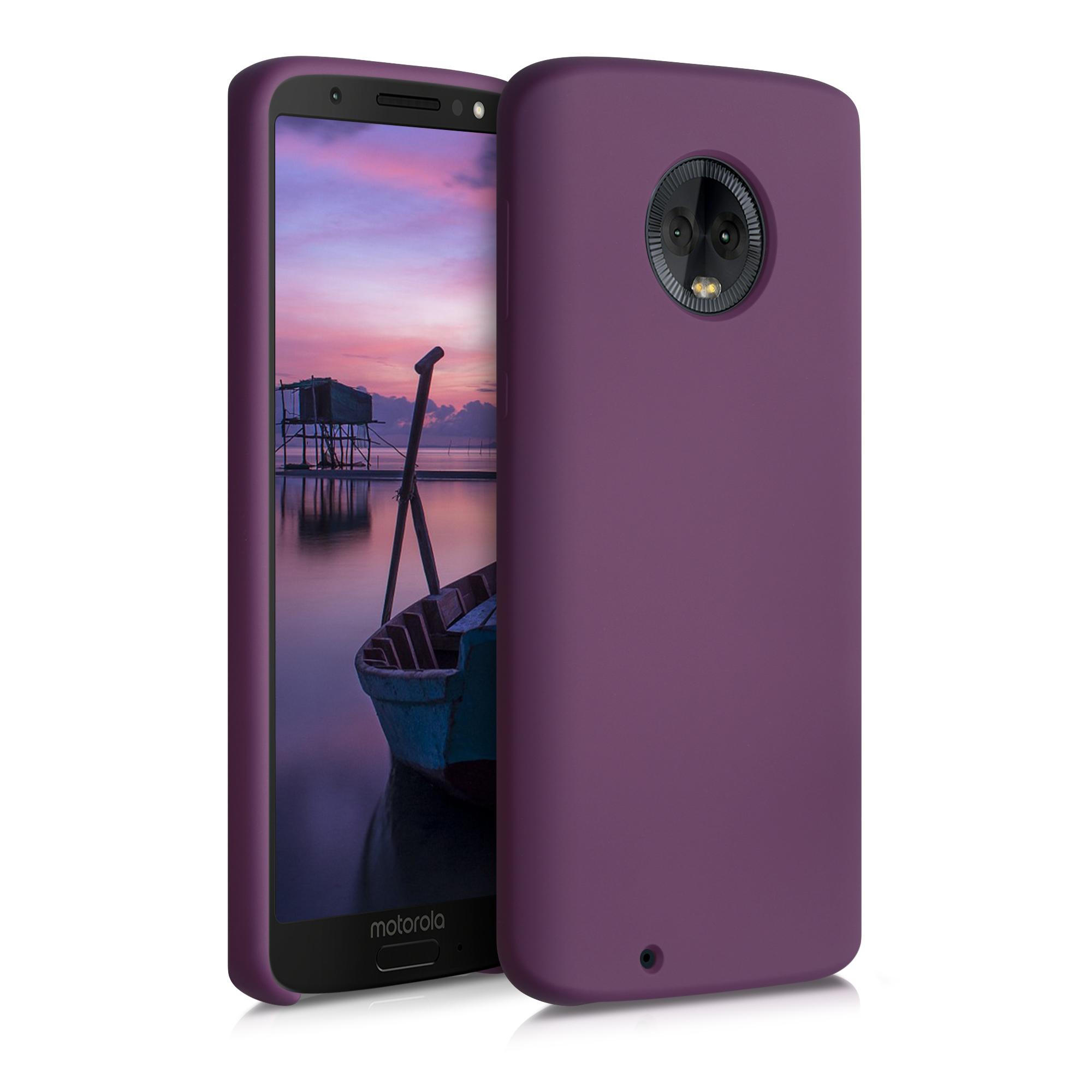 Kvalitní silikonové TPU pouzdro | obal pro Motorola Moto G6 - Tawny Red