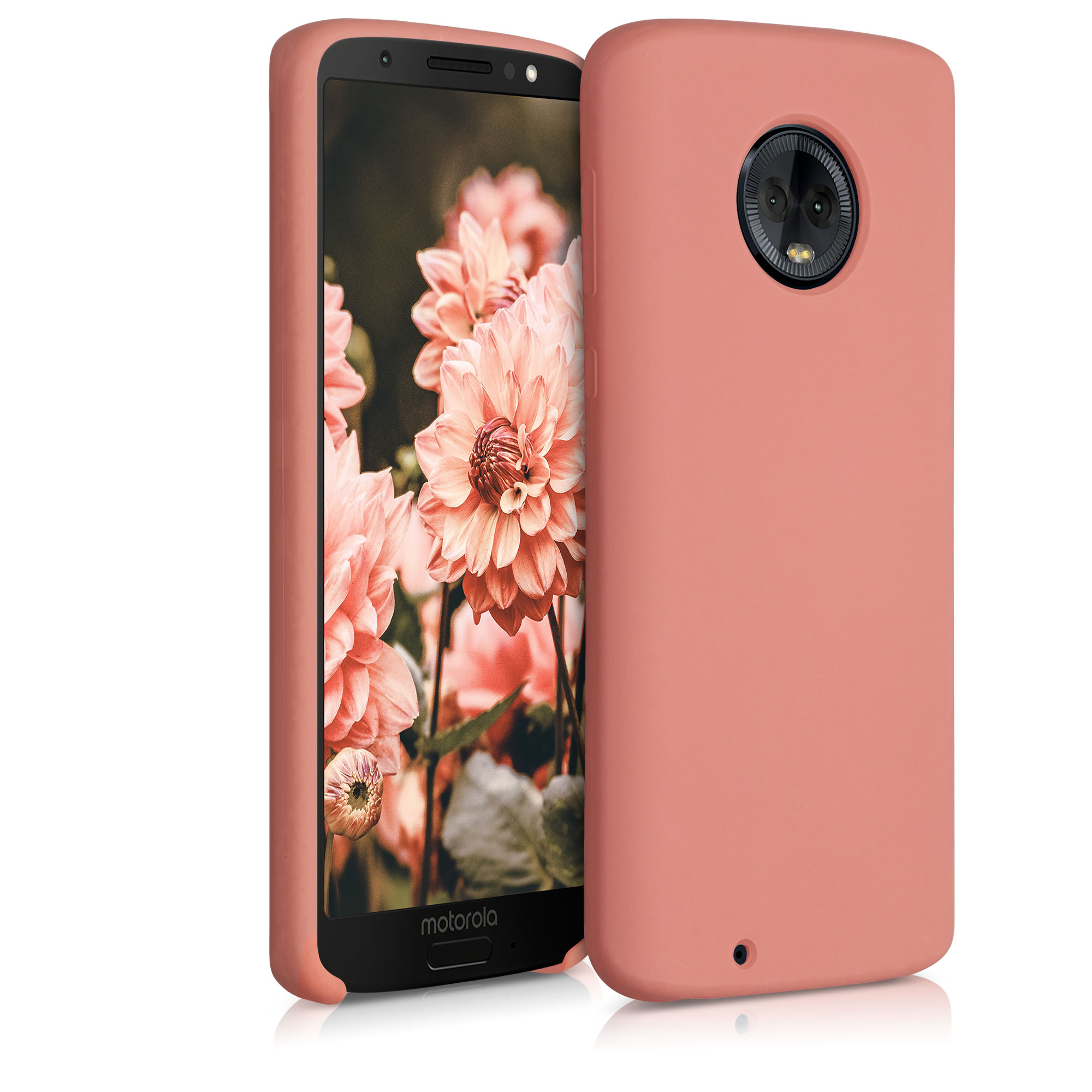 Kvalitní silikonové TPU pouzdro | obal pro Motorola Moto G6 -  Grapefruitová růžová