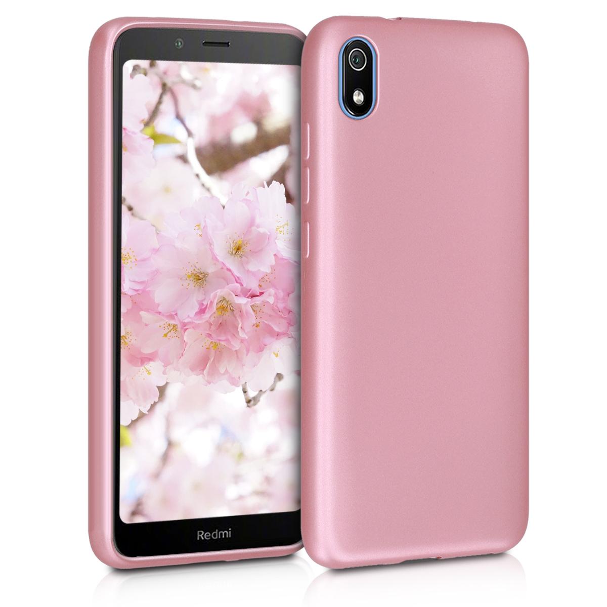 Kvalitní silikonové TPU pouzdro | obal pro Xiaomi Redmi 7A - metalické starorůžový růžovýgold
