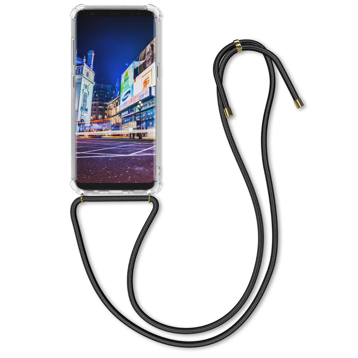 Kvalitní silikonové TPU pouzdro pro Samsung S8 - černé / transparentní