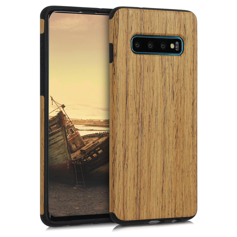 dřevěné Optics pouzdro / obal for Samsung Galaxy S10