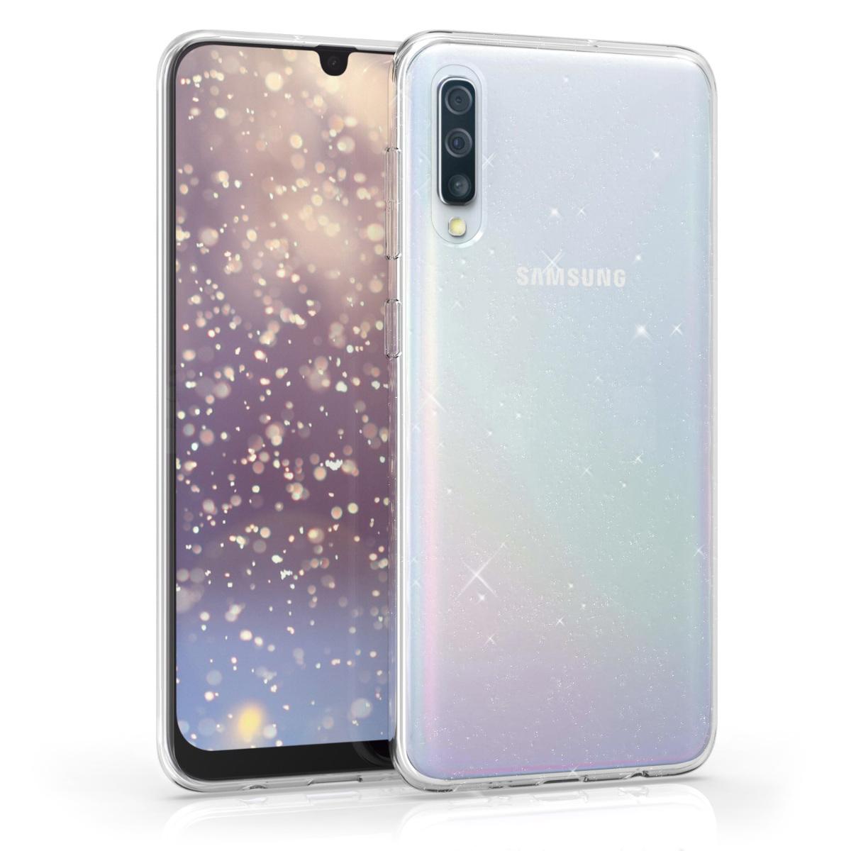 Kvalitní silikonové TPU pouzdro pro Samsung A50 - Glitter Uniform transparentní