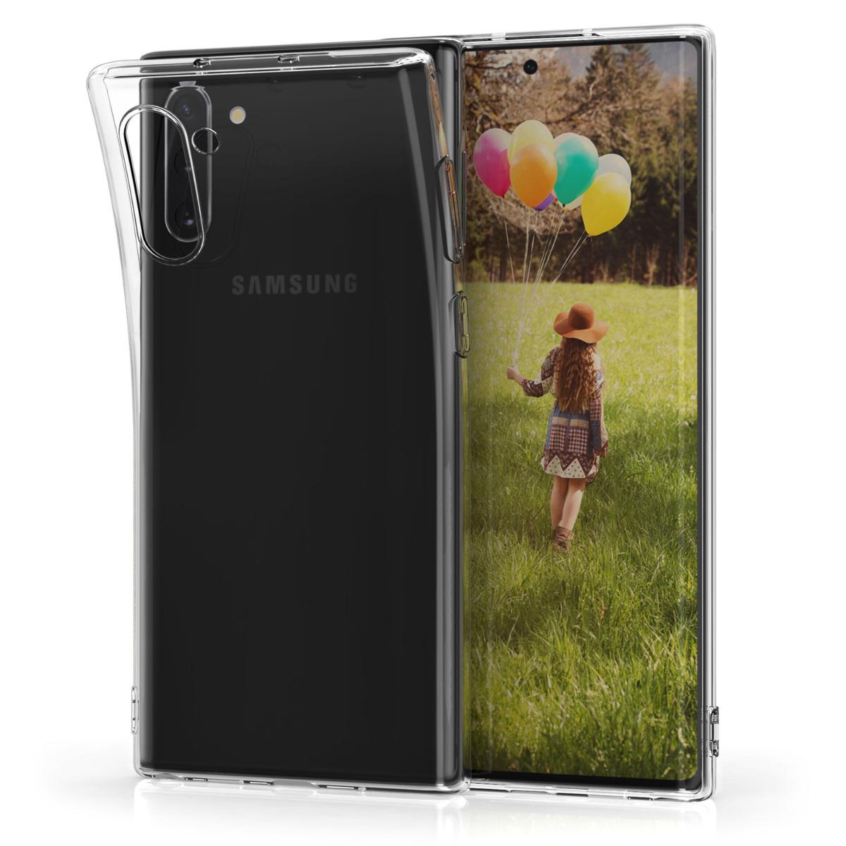 Kvalitní silikonové TPU pouzdro pro Samsung Note 10 - průhledné
