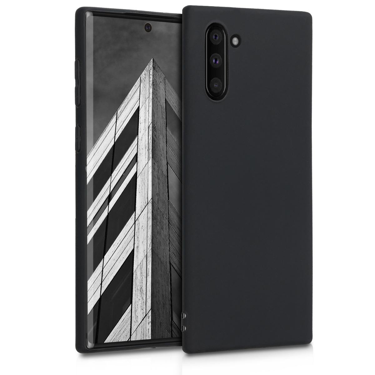 Kvalitní silikonové TPU pouzdro pro Samsung Note 10 - černé matné