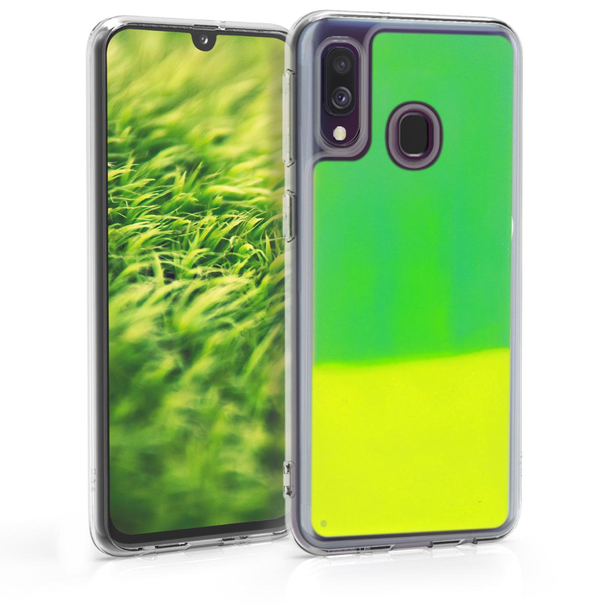 Kvalitní plastové pouzdro pro Samsung A40 - neonověově zelená