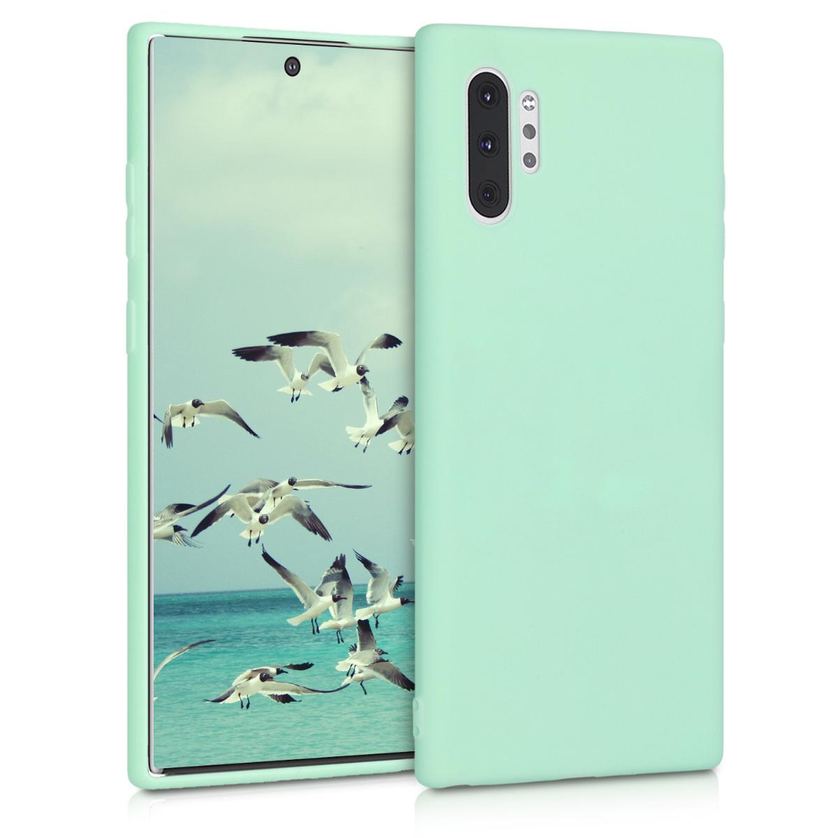 Kvalitní silikonové TPU pouzdro pro Samsung Note 10 Plus - mint zelené matné