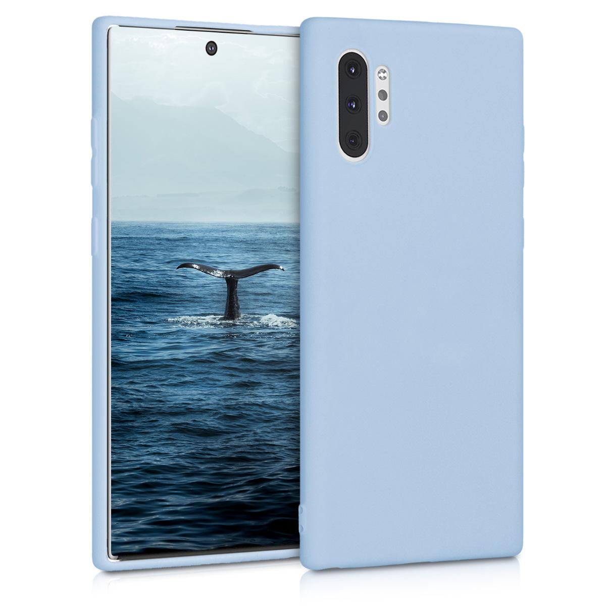 Kvalitní silikonové TPU pouzdro pro Samsung Note 10 Plus - světle  modré matné