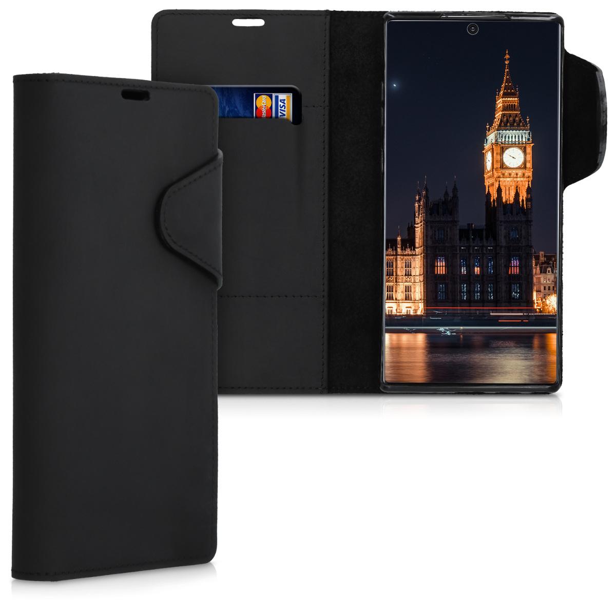 Kožené pouzdro pro Samsung Note 10 Plus - černé
