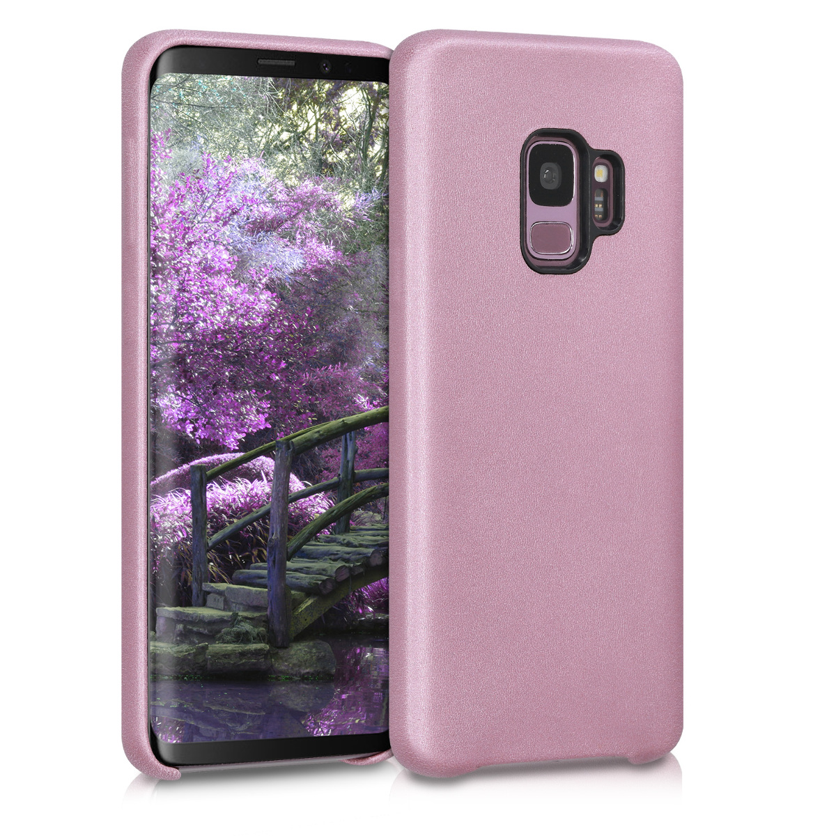 Pouzdro pro Samsung Galaxy S9 - Soft Durable Shockproof PU Leather Smartphone Cover - Pastel Purple