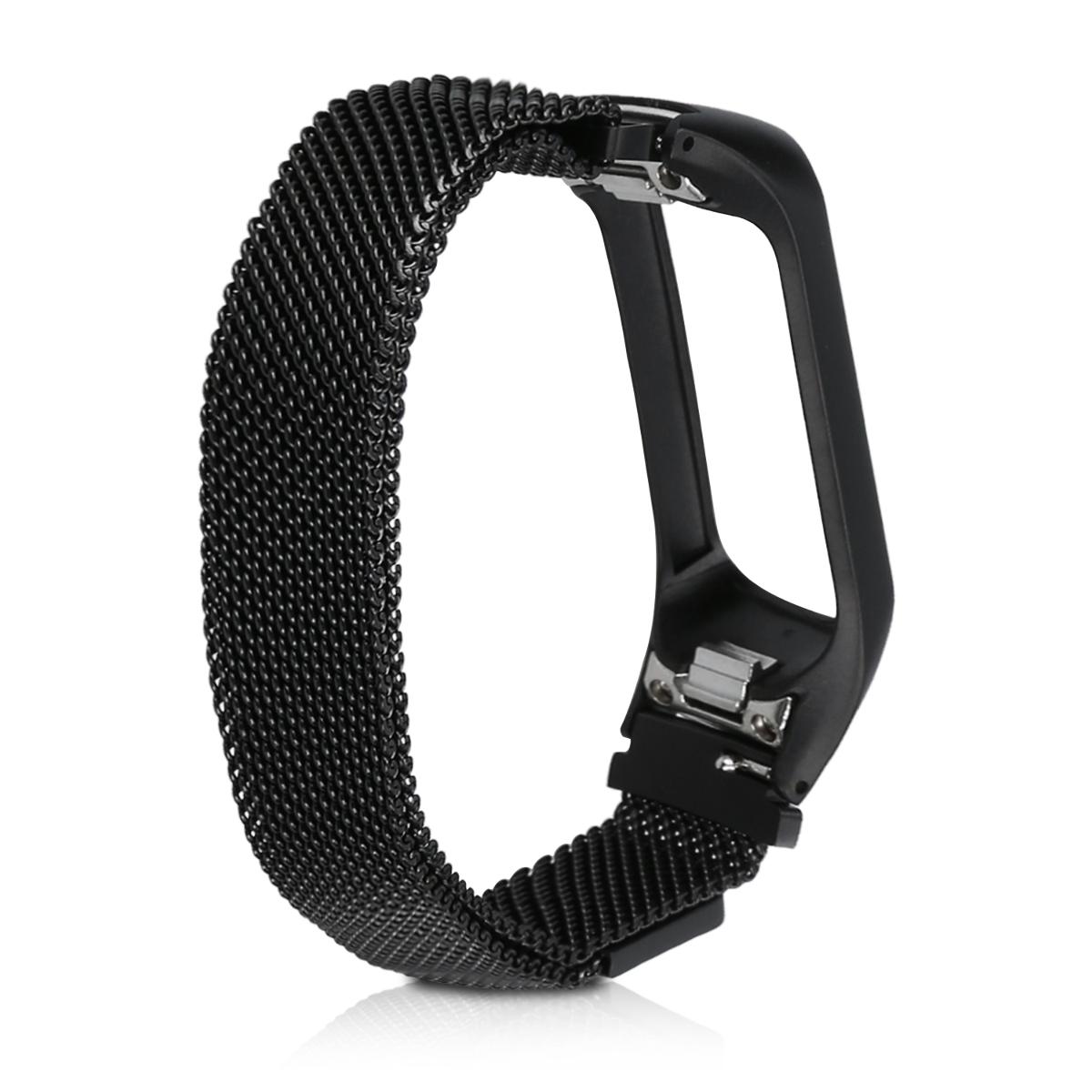 Černý pásek z nerezové oceli s magnetickým zapínáním pro Samsung Galaxy Fit e