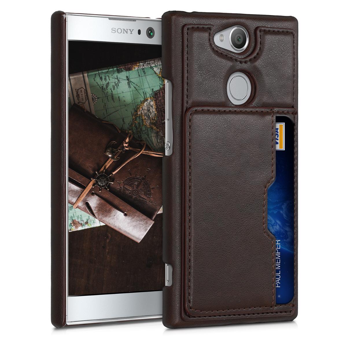Kožené pouzdro | obal pro Sony Xperia XA2 - hnědé