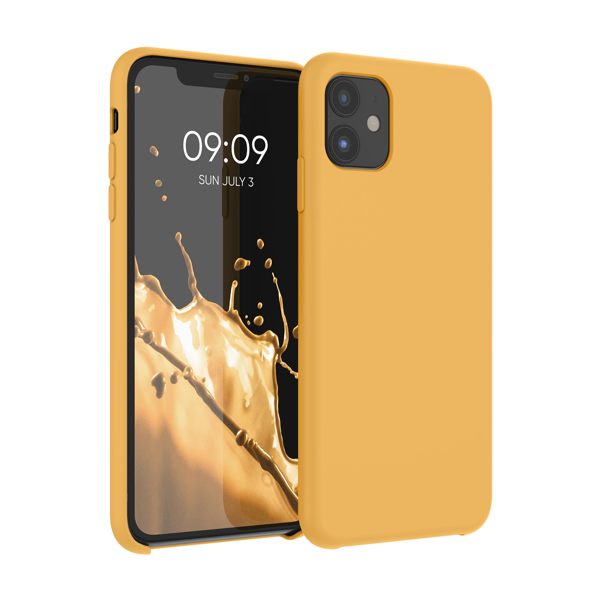 Kvalitní silikonové TPU pouzdro pro Apple iPhone 11 - Saffron Yellow