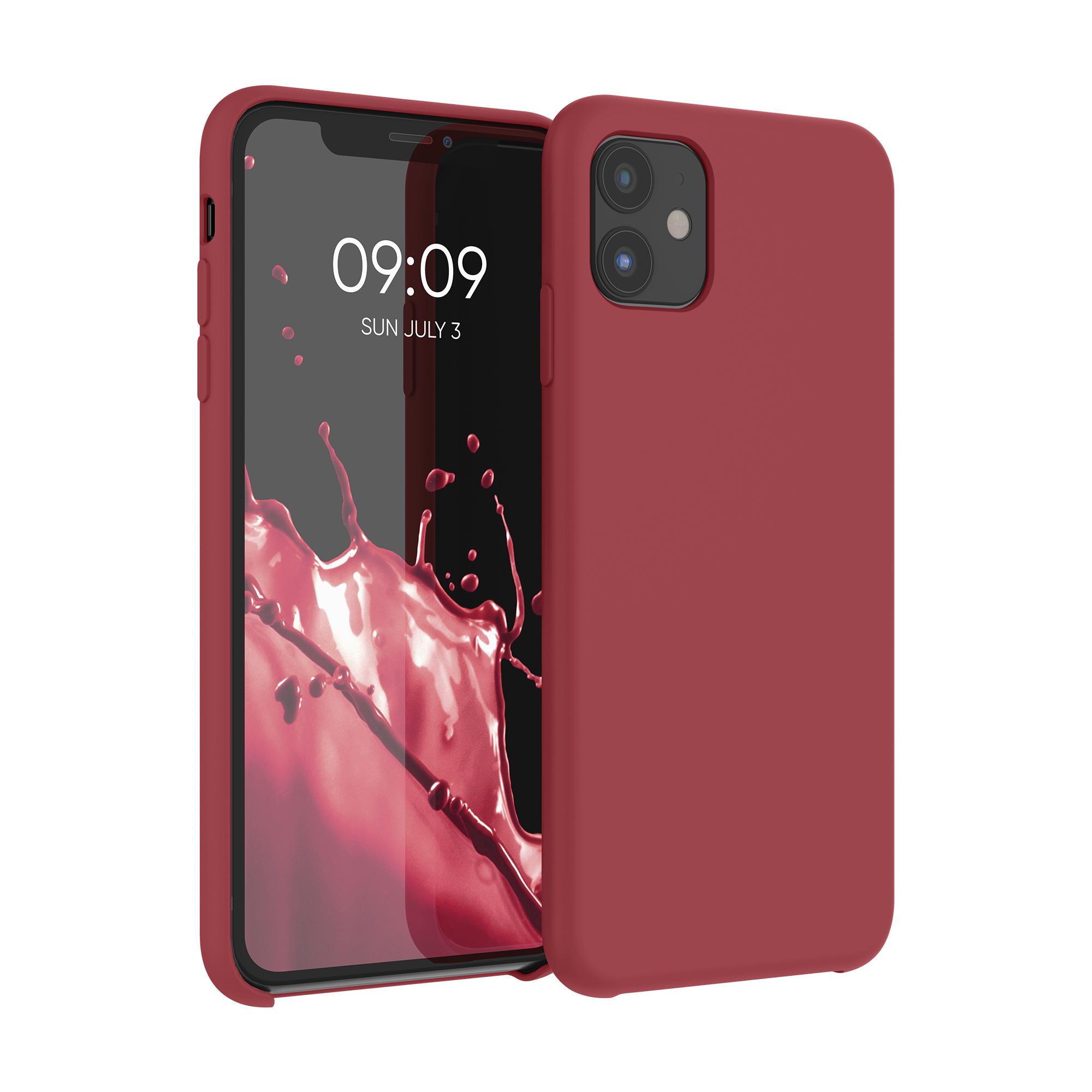 Kvalitní silikonové TPU pouzdro pro Apple iPhone 11 - Tmavě červená