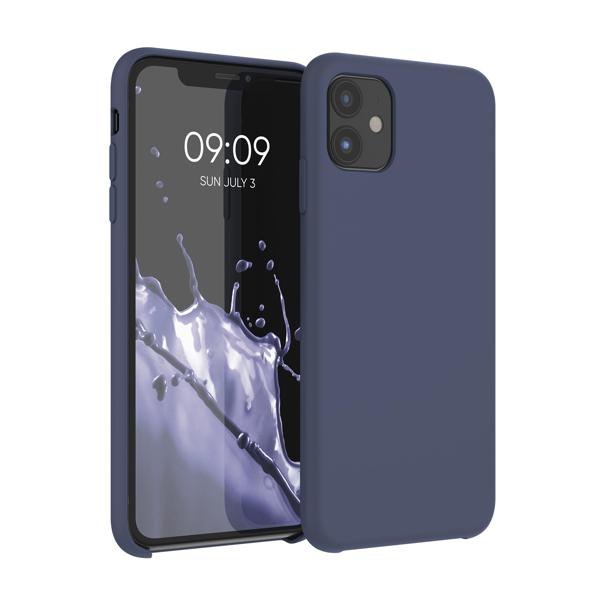 Kvalitní silikonové TPU pouzdro pro Apple iPhone 11 - Dark Blue Matte