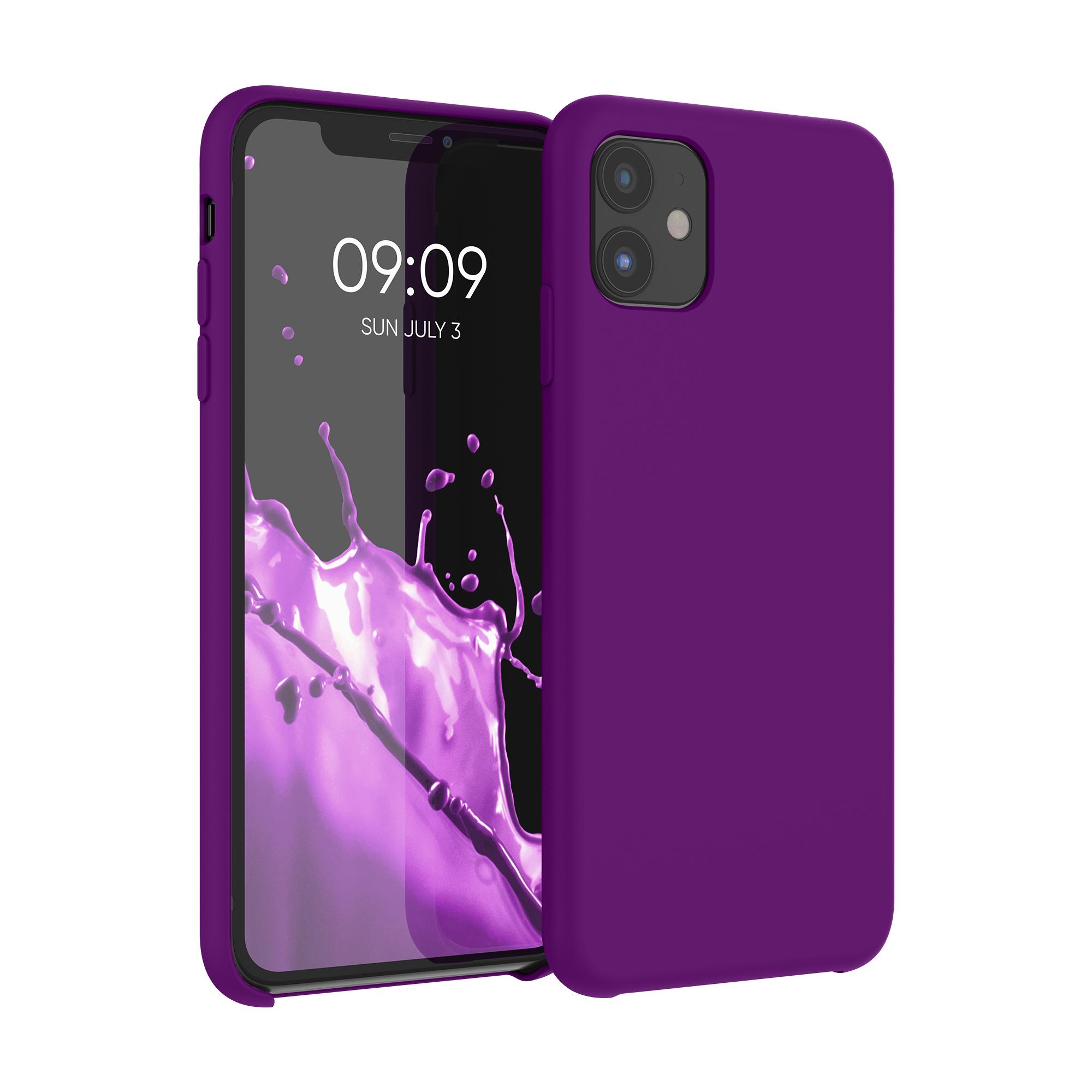 Kvalitní silikonové TPU pouzdro pro Apple iPhone 11 - Neon Violet