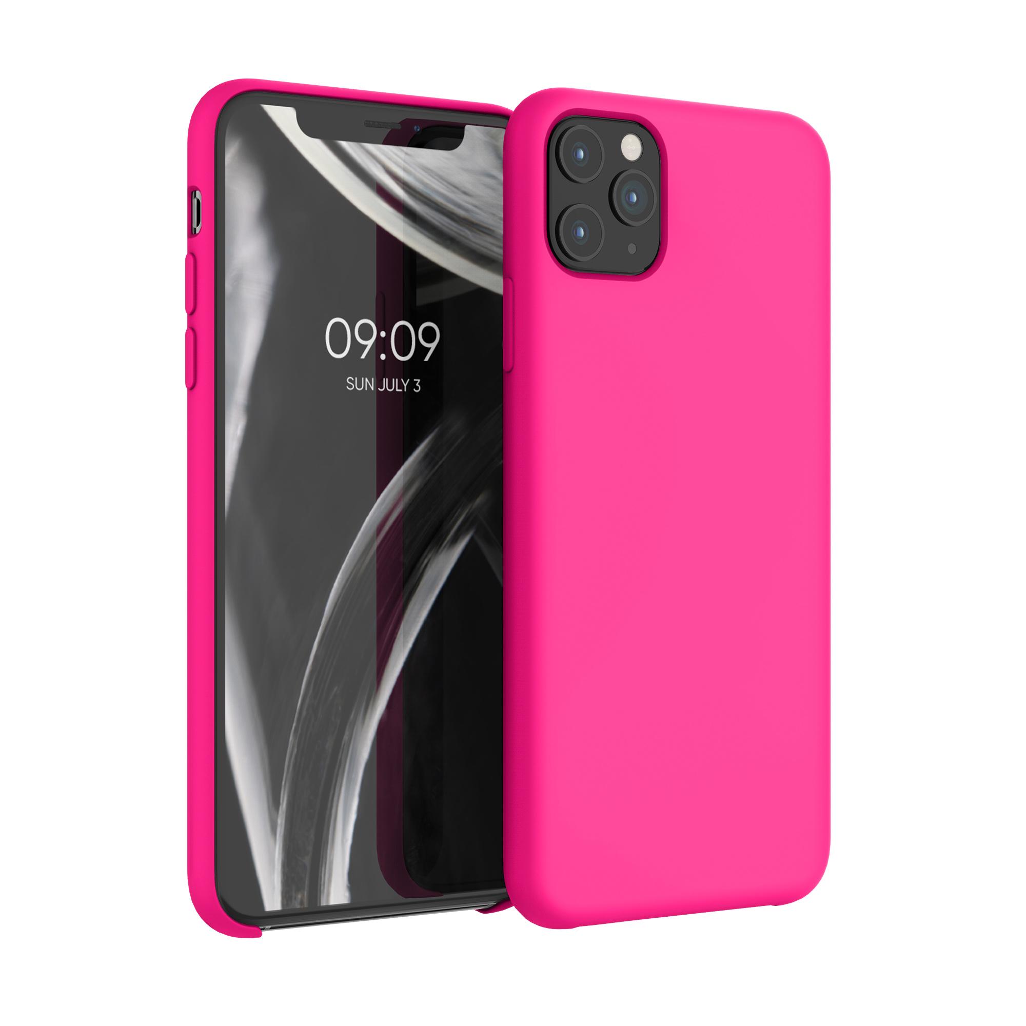 Kvalitní silikonové TPU pouzdro pro Apple iPhone 11 Pro Max - Neon Pink