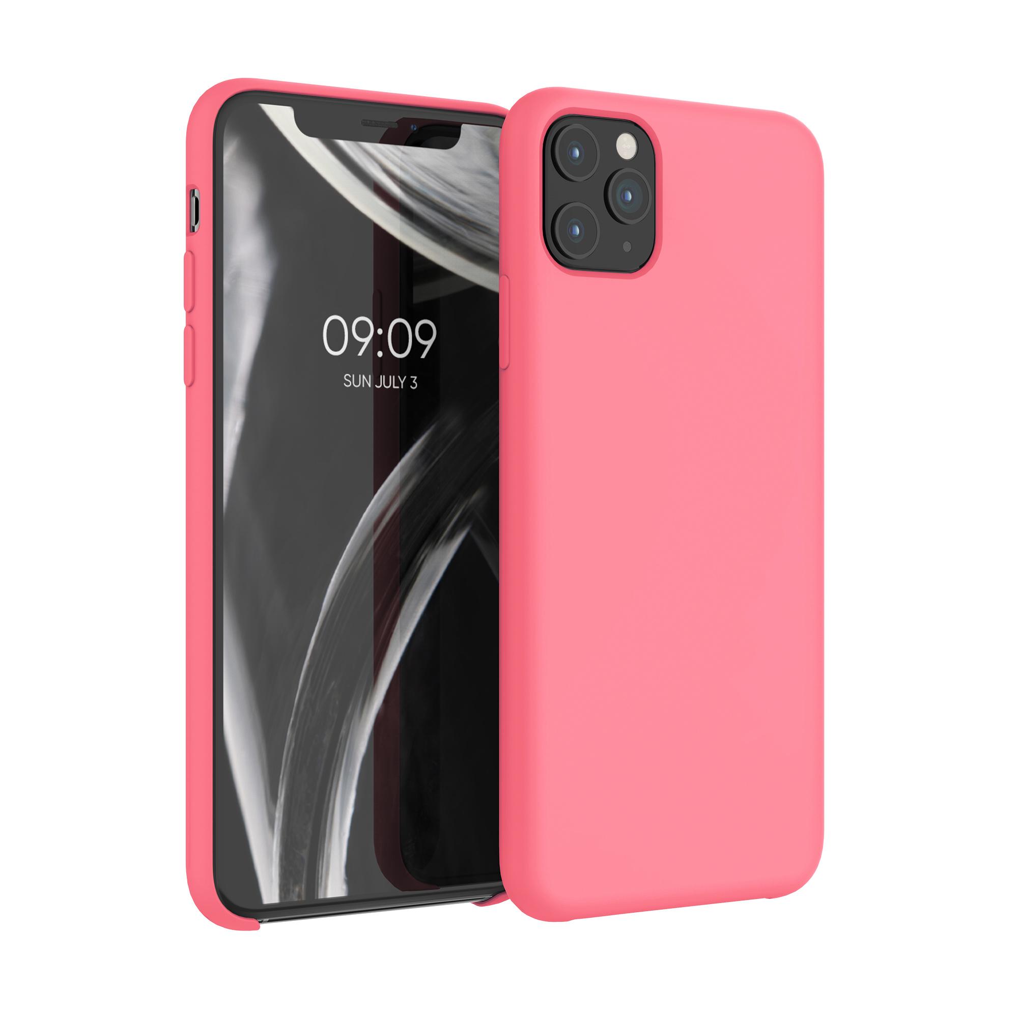 Kvalitní silikonové TPU pouzdro pro Apple iPhone 11 Pro Max - Neon Coral