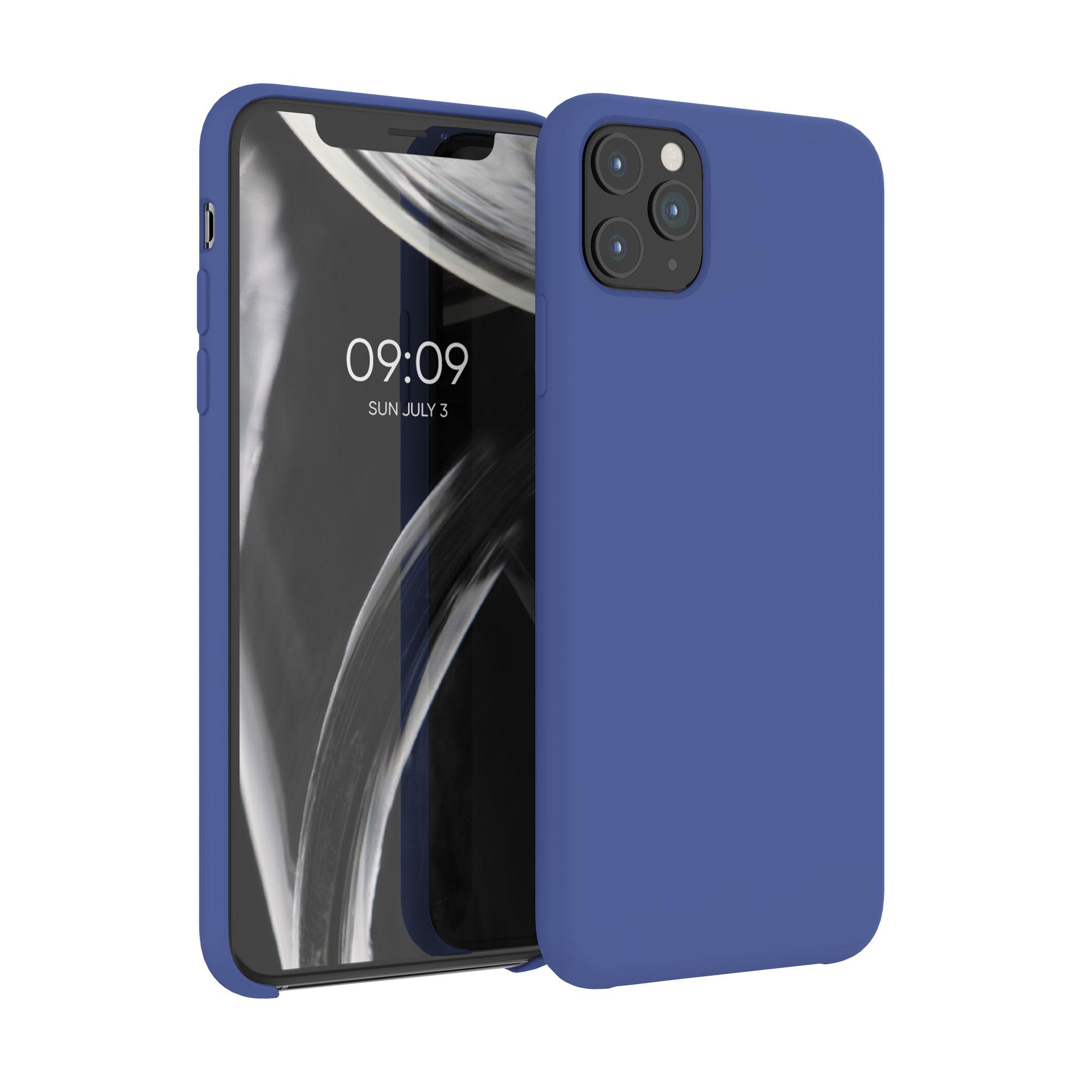 Kvalitní silikonové TPU pouzdro pro Apple iPhone 11 Pro Max - chrpa modrá