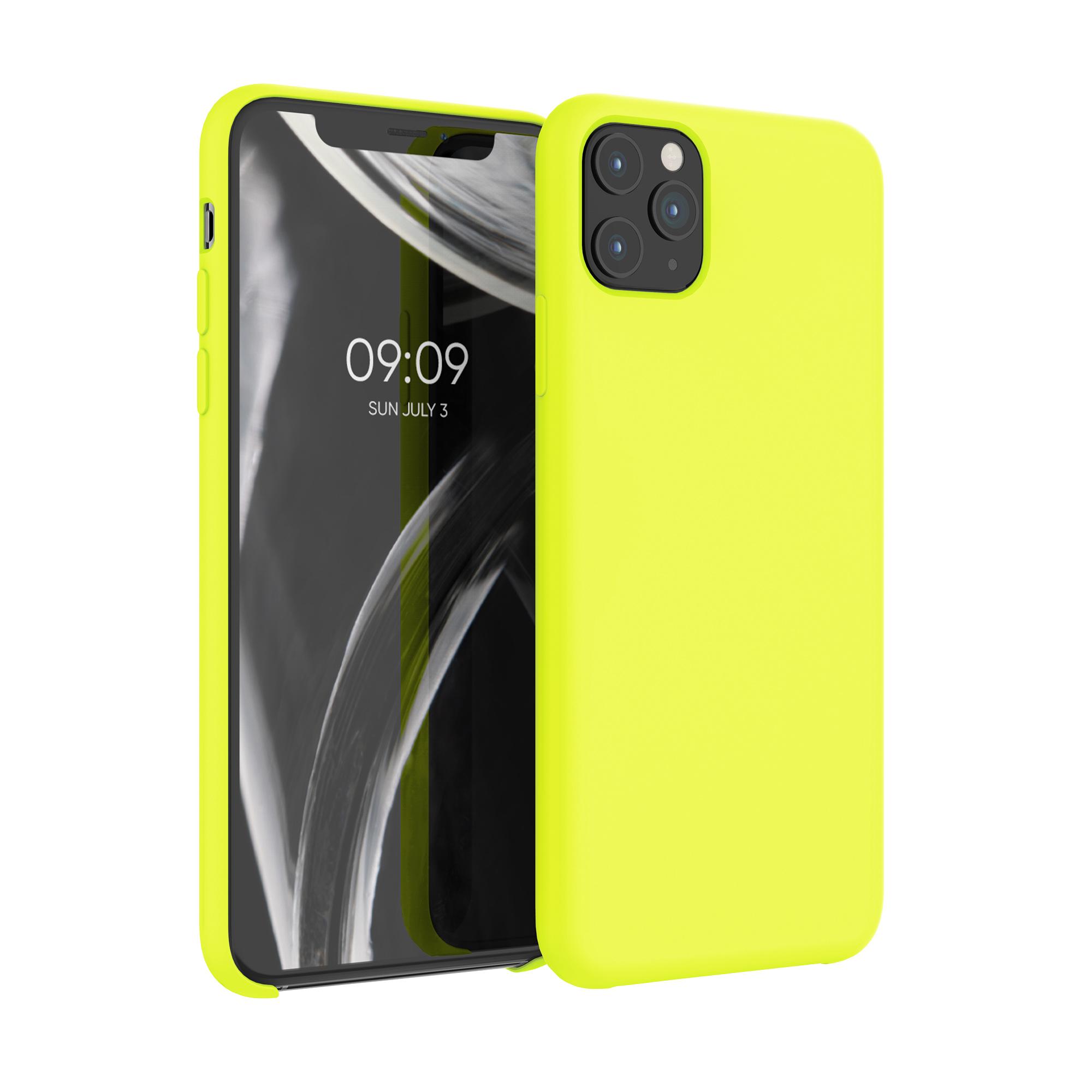 Kvalitní silikonové TPU pouzdro pro Apple iPhone 11 Pro Max - Lemon Yellow