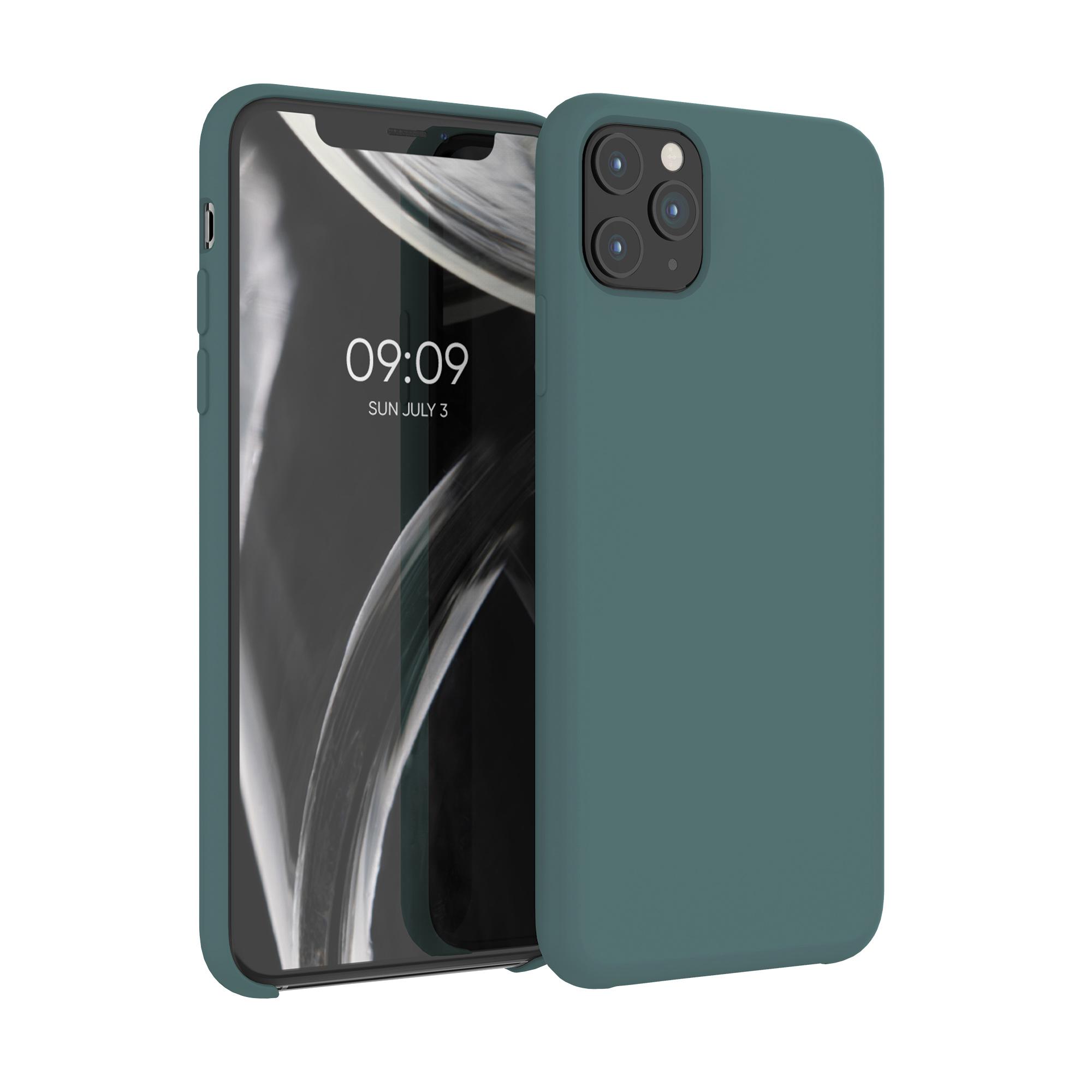 Kvalitní silikonové TPU pouzdro pro Apple iPhone 11 Pro Max - Modrá zelená