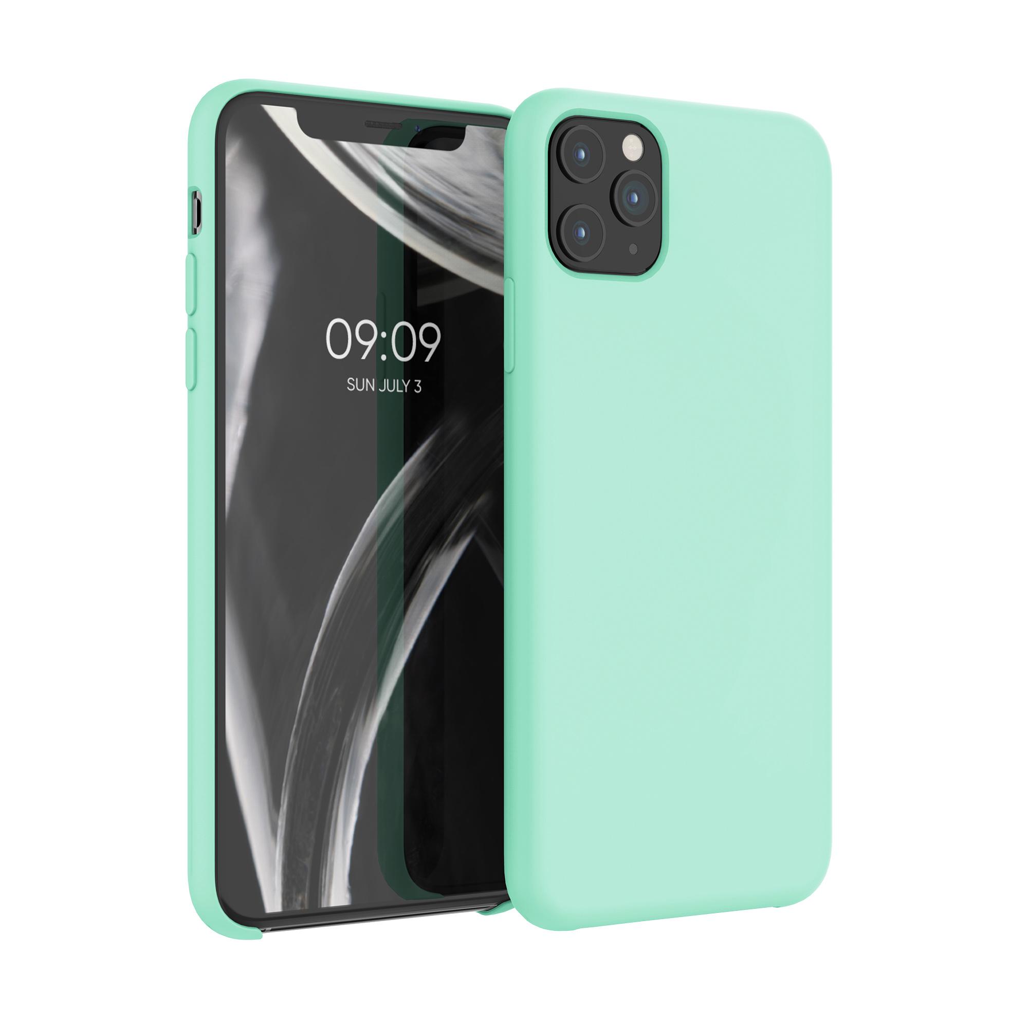 Kvalitní silikonové TPU pouzdro pro Apple iPhone 11 Pro Max - pastel Green