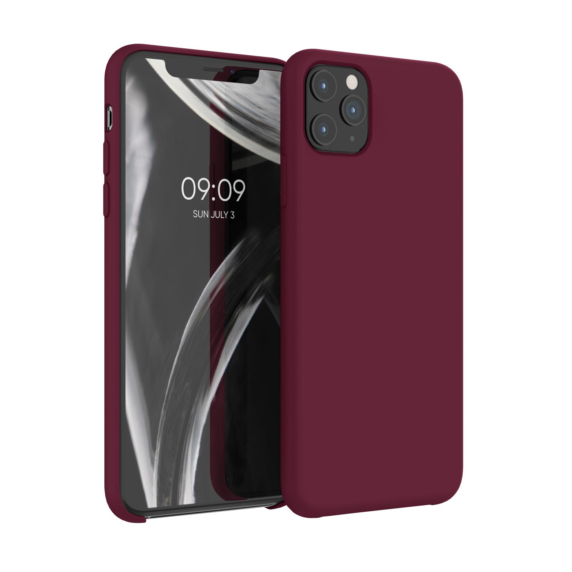 Kvalitní silikonové TPU pouzdro pro Apple iPhone 11 Pro Max - Tawny Red
