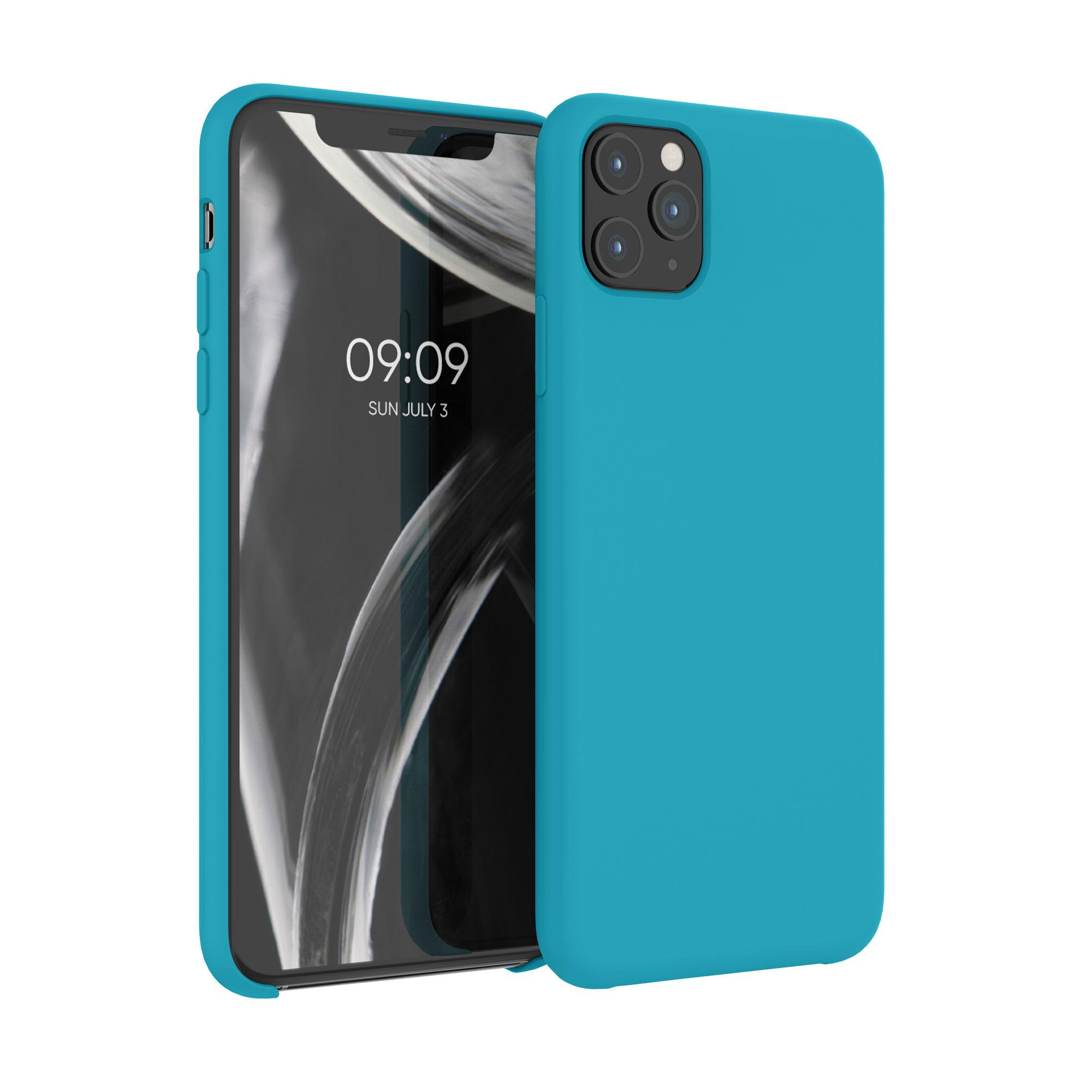 Kvalitní silikonové TPU pouzdro pro Apple iPhone 11 Pro Max - Ledová modř