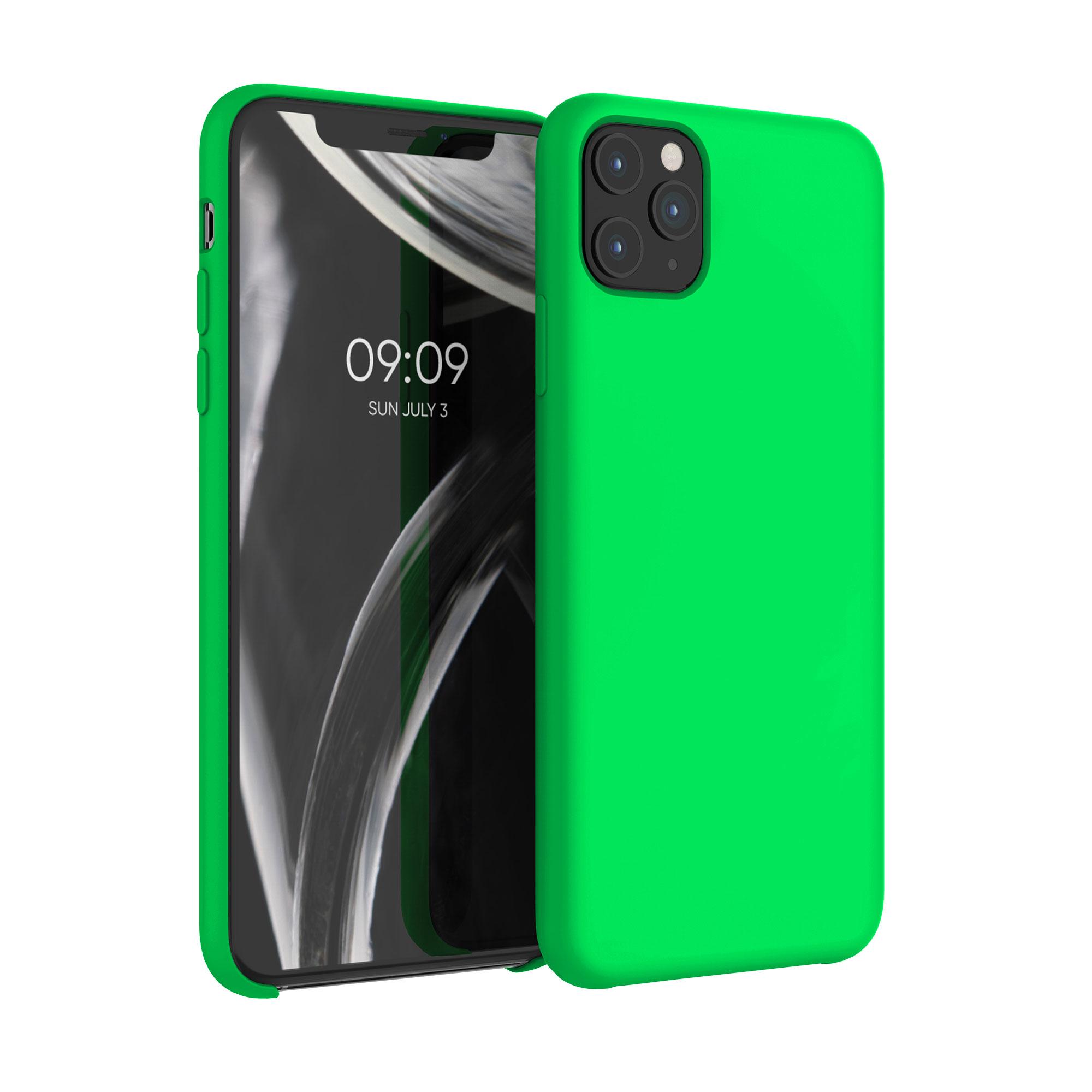 Kvalitní silikonové TPU pouzdro pro Apple iPhone 11 Pro Max - Neonově zelená