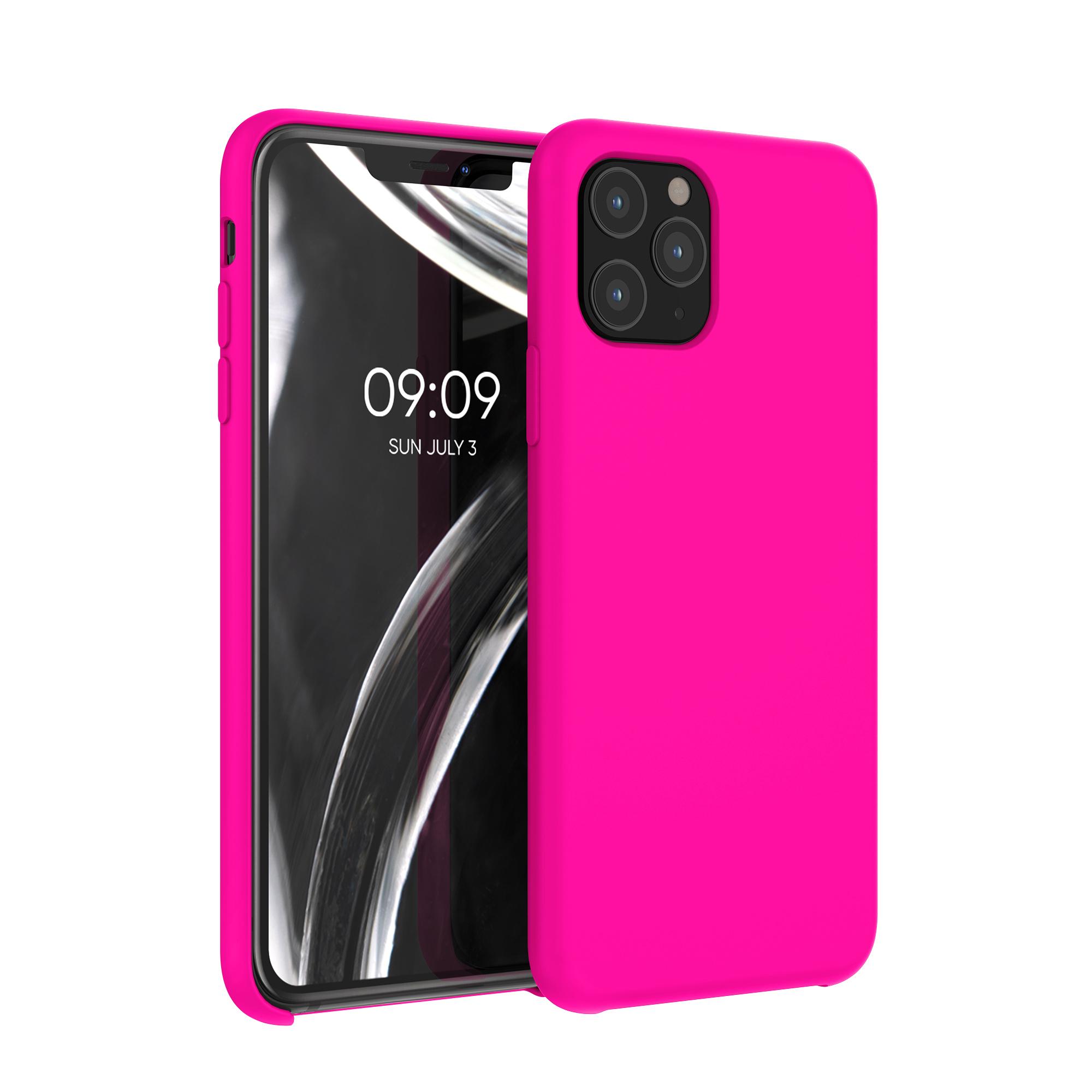Kvalitní silikonové TPU pouzdro pro Apple iPhone 11 Pro - Neon Pink