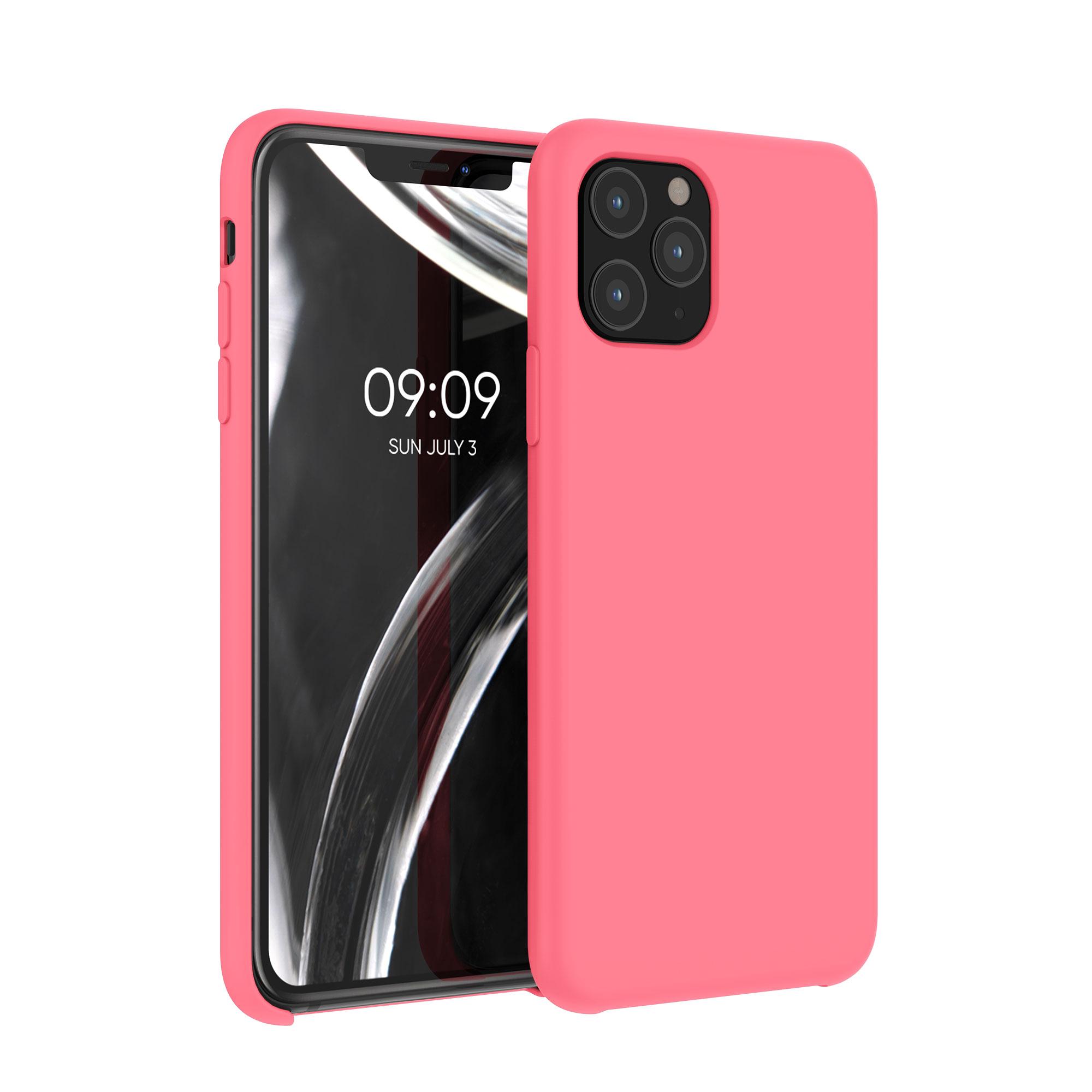 Kvalitní silikonové TPU pouzdro pro Apple iPhone 11 Pro - Neon Coral