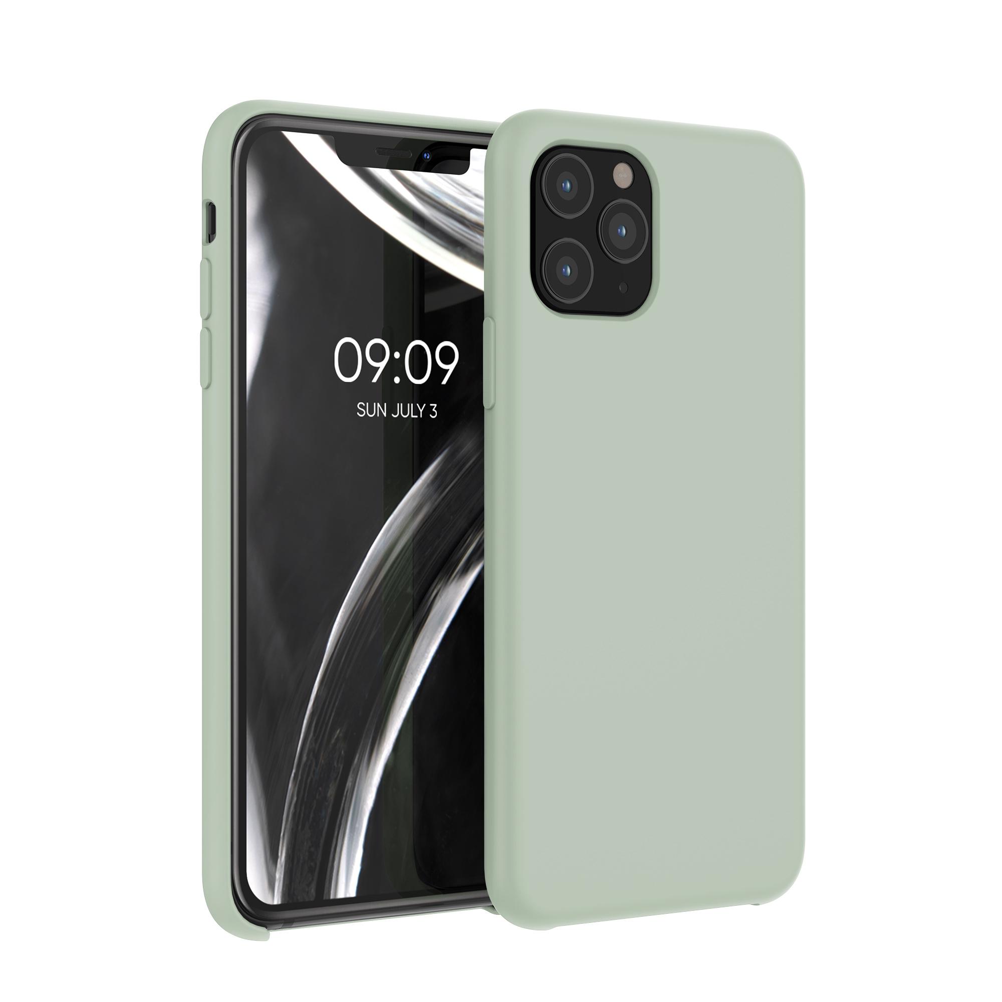 Kvalitní silikonové TPU pouzdro pro Apple iPhone 11 Pro - Gray Green