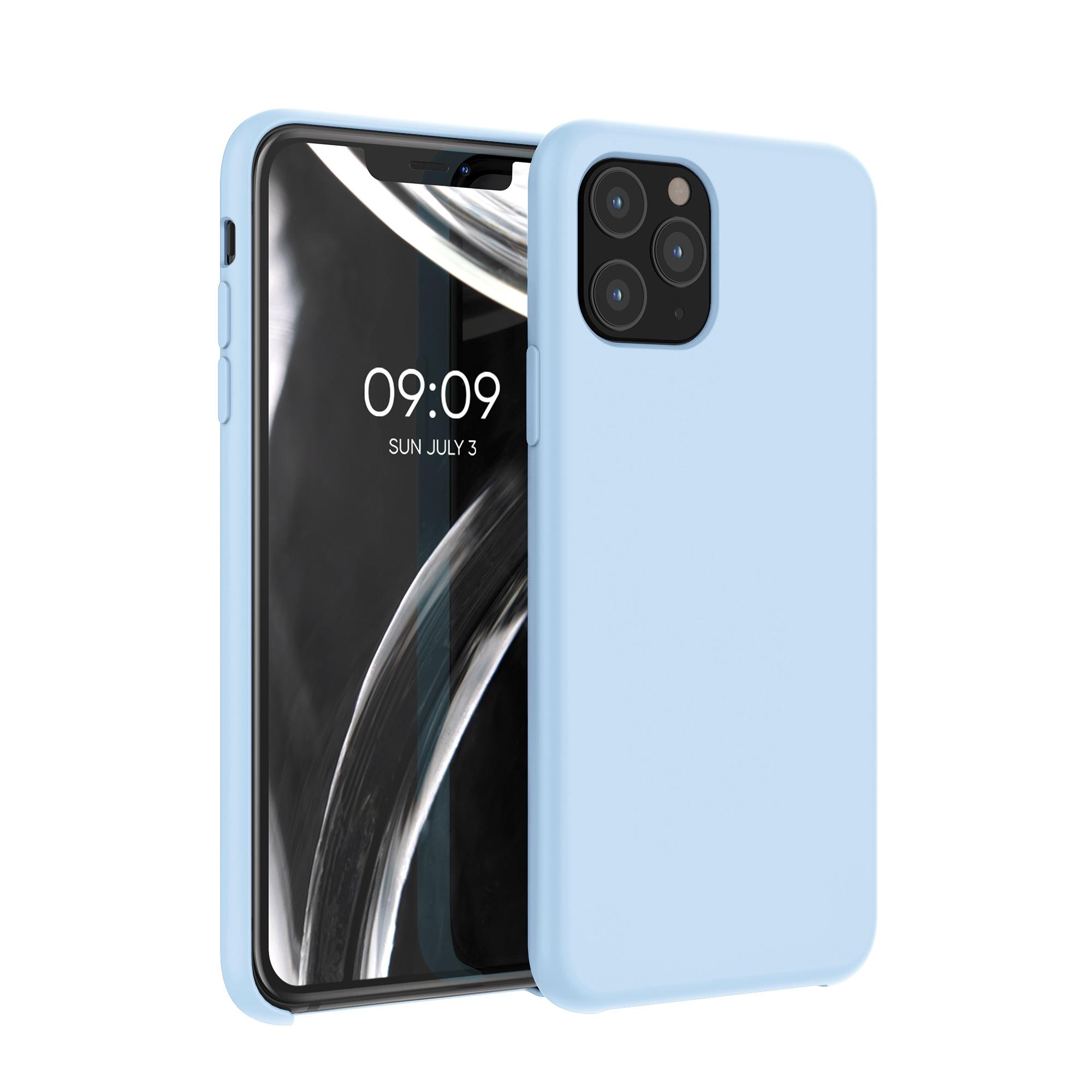 Kvalitní silikonové TPU pouzdro pro Apple iPhone 11 Pro - pastelově modrá