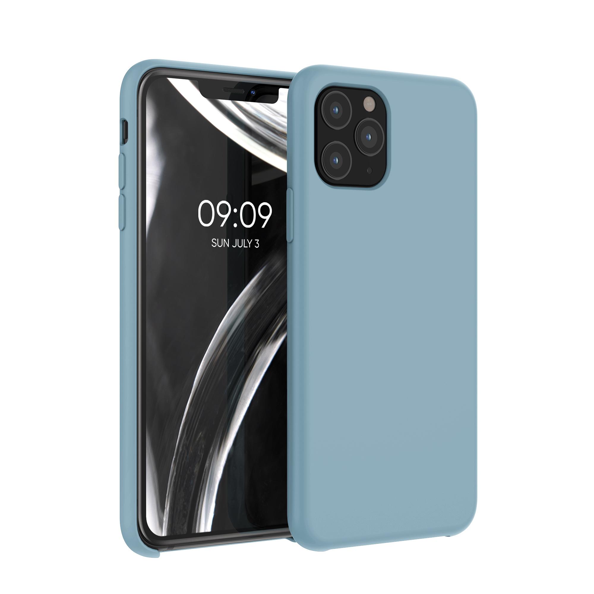 Kvalitní silikonové TPU pouzdro pro Apple iPhone 11 Pro - kámen Modrá