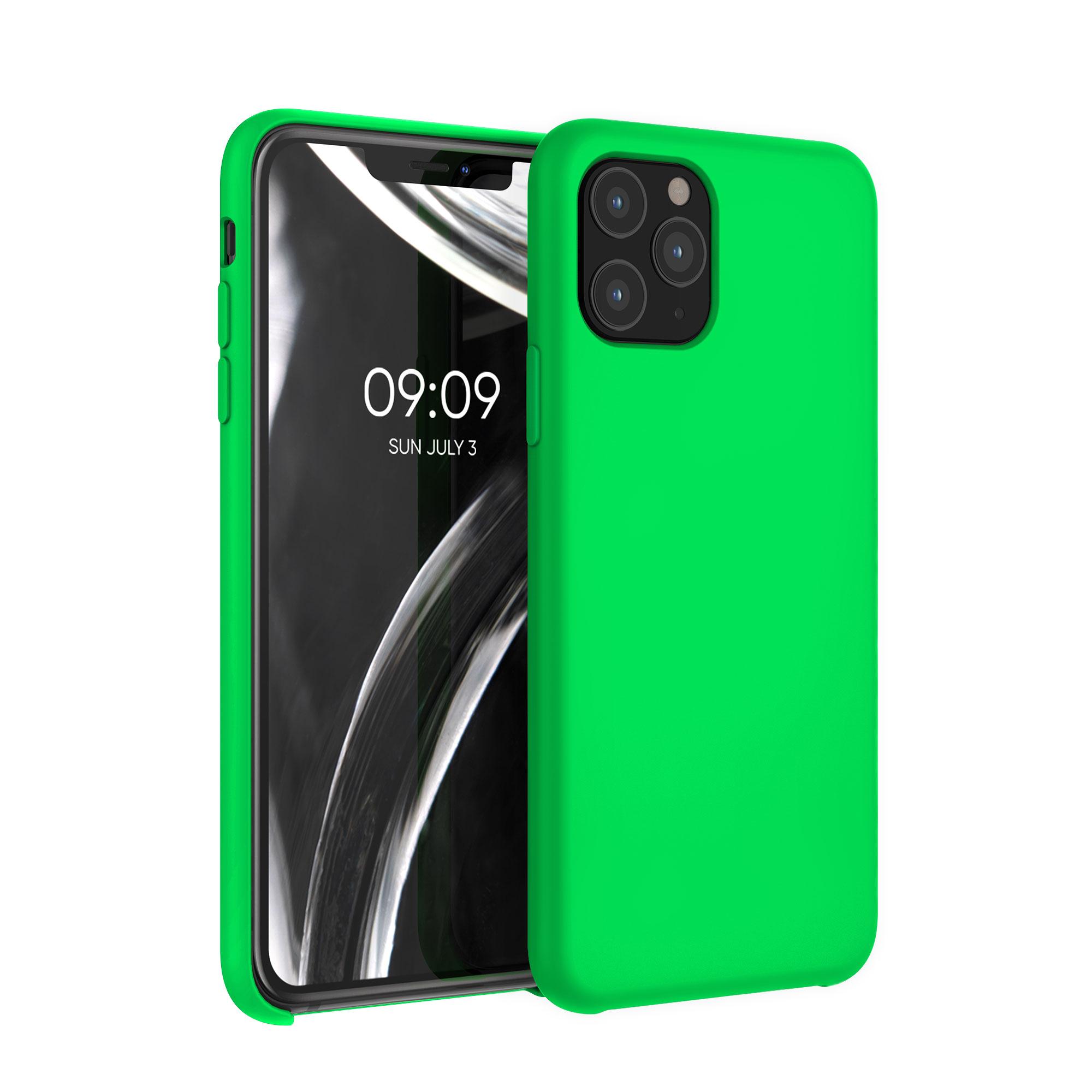 Kvalitní silikonové TPU pouzdro pro Apple iPhone 11 Pro - Neonově zelená
