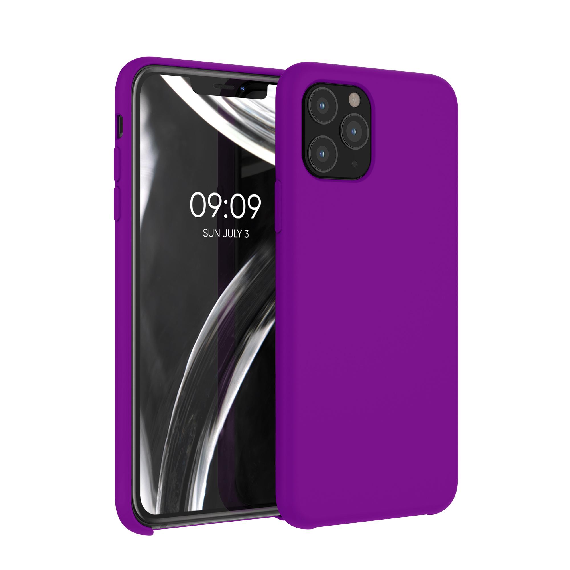 Kvalitní silikonové TPU pouzdro pro Apple iPhone 11 Pro - Neon Violet