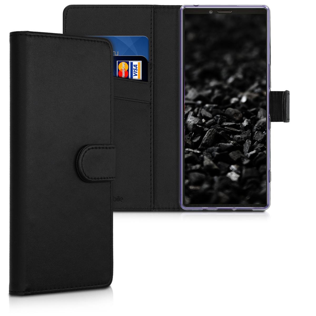 Kožené pouzdro | obal pro Sony Xperia 1 - černé