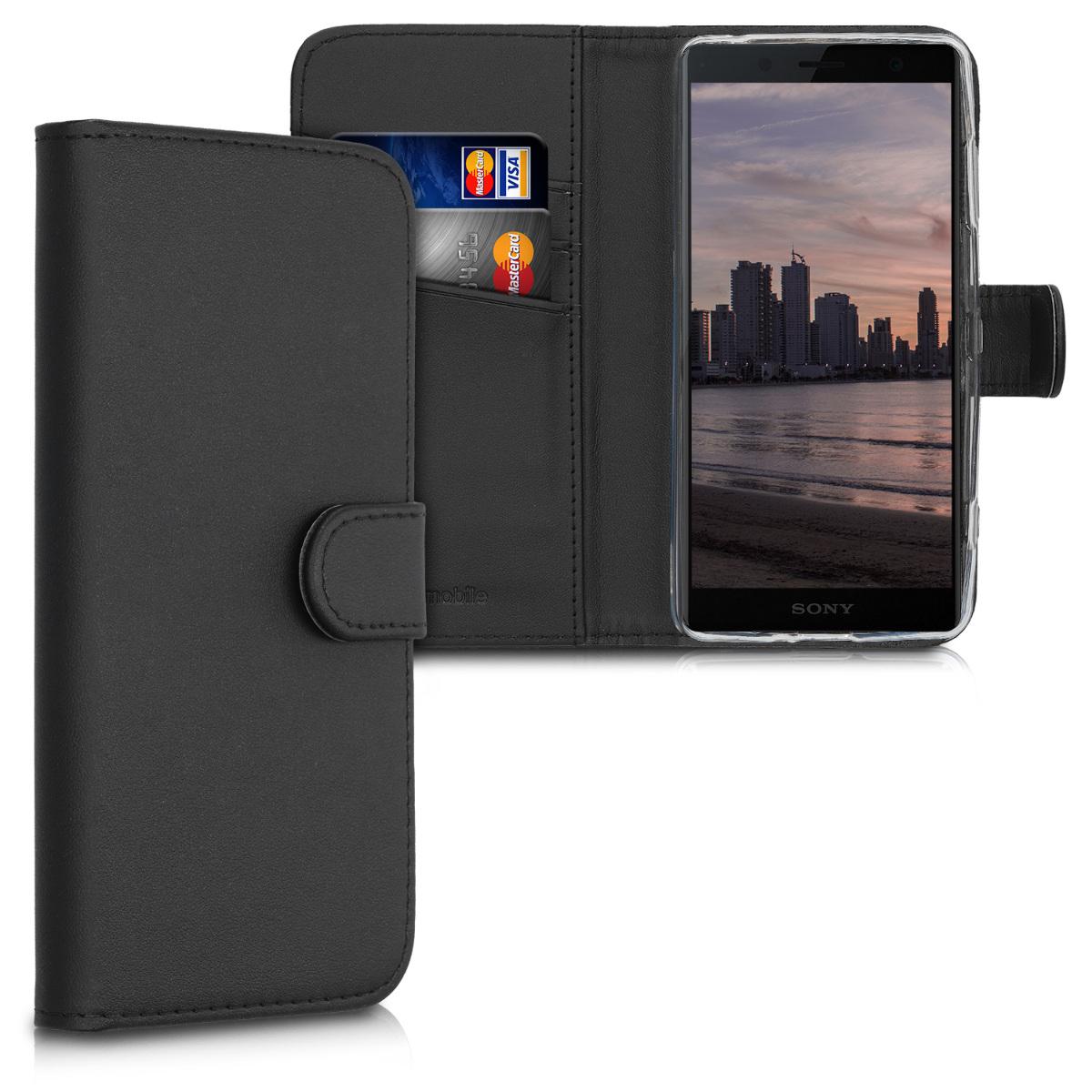 Kožené pouzdro | obal pro Sony Xperia XZ2 Compact - černé