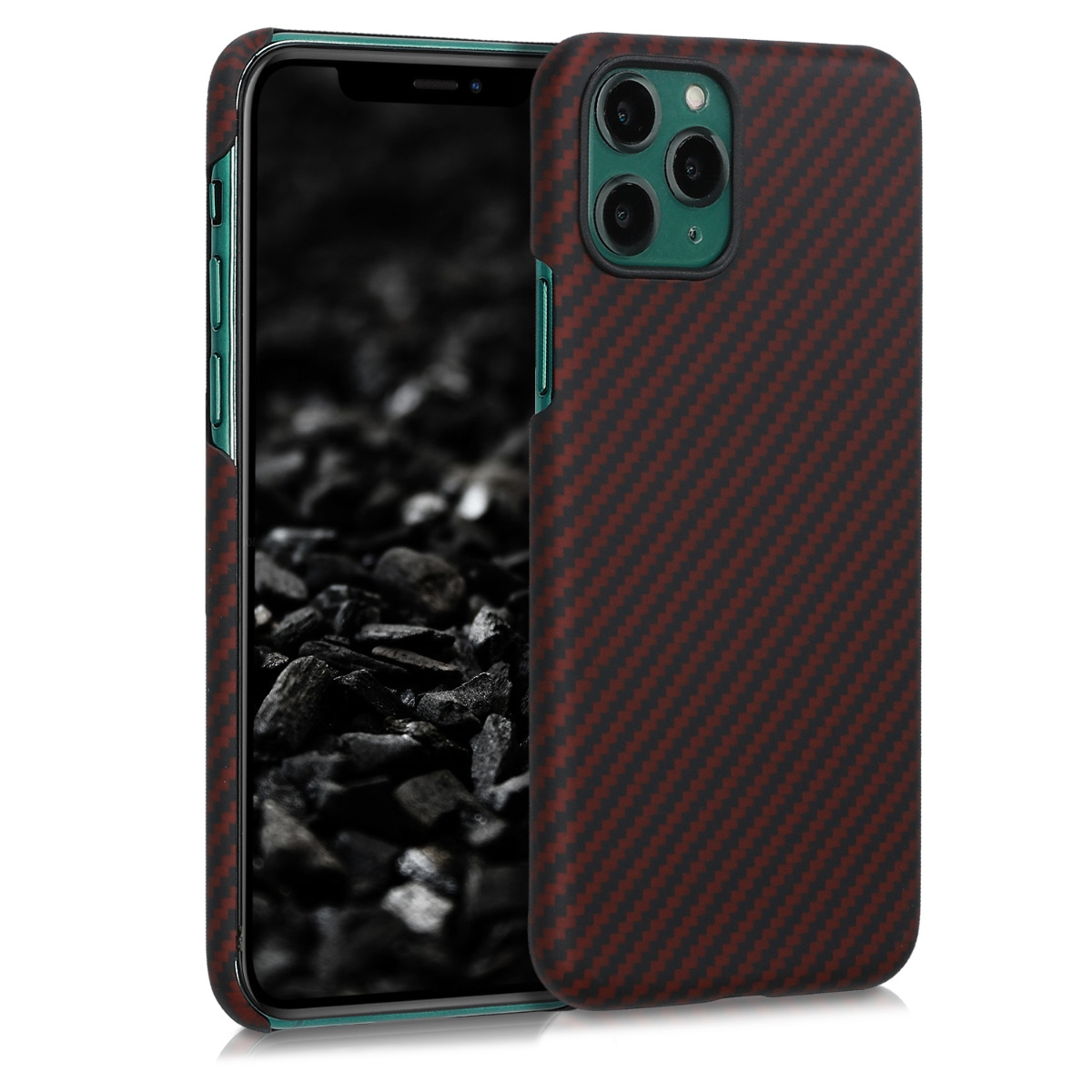 Aramidpouzdro pro Apple iPhone 11 Pro - Red Matte | Black
