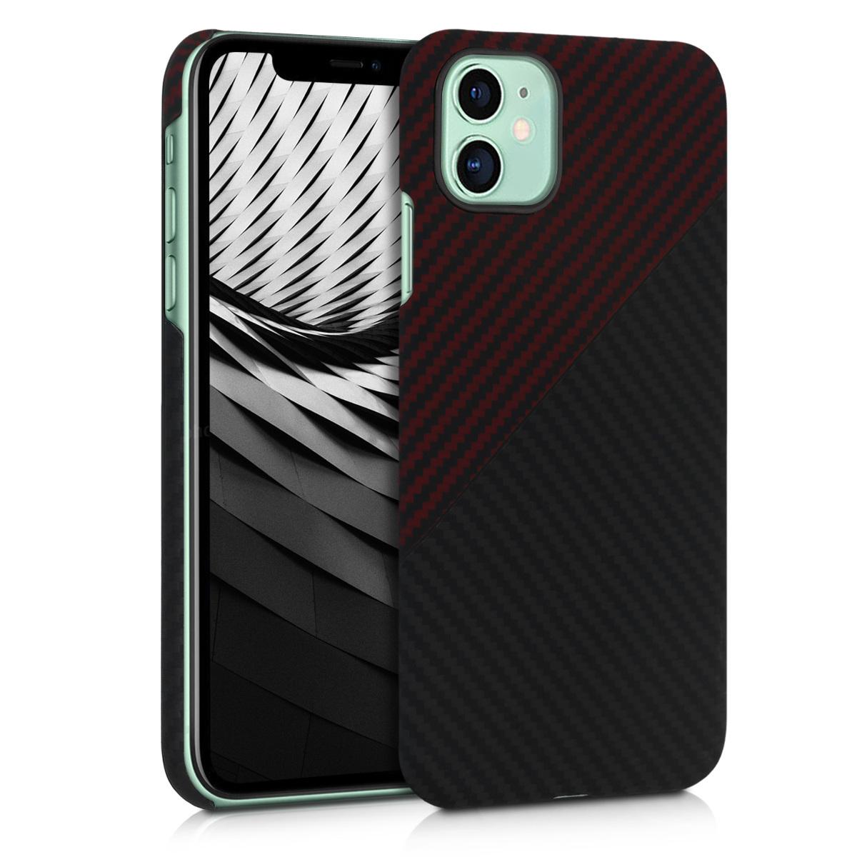 Aramidpouzdro pro Apple iPhone 11 - Red Matte | Black Matte