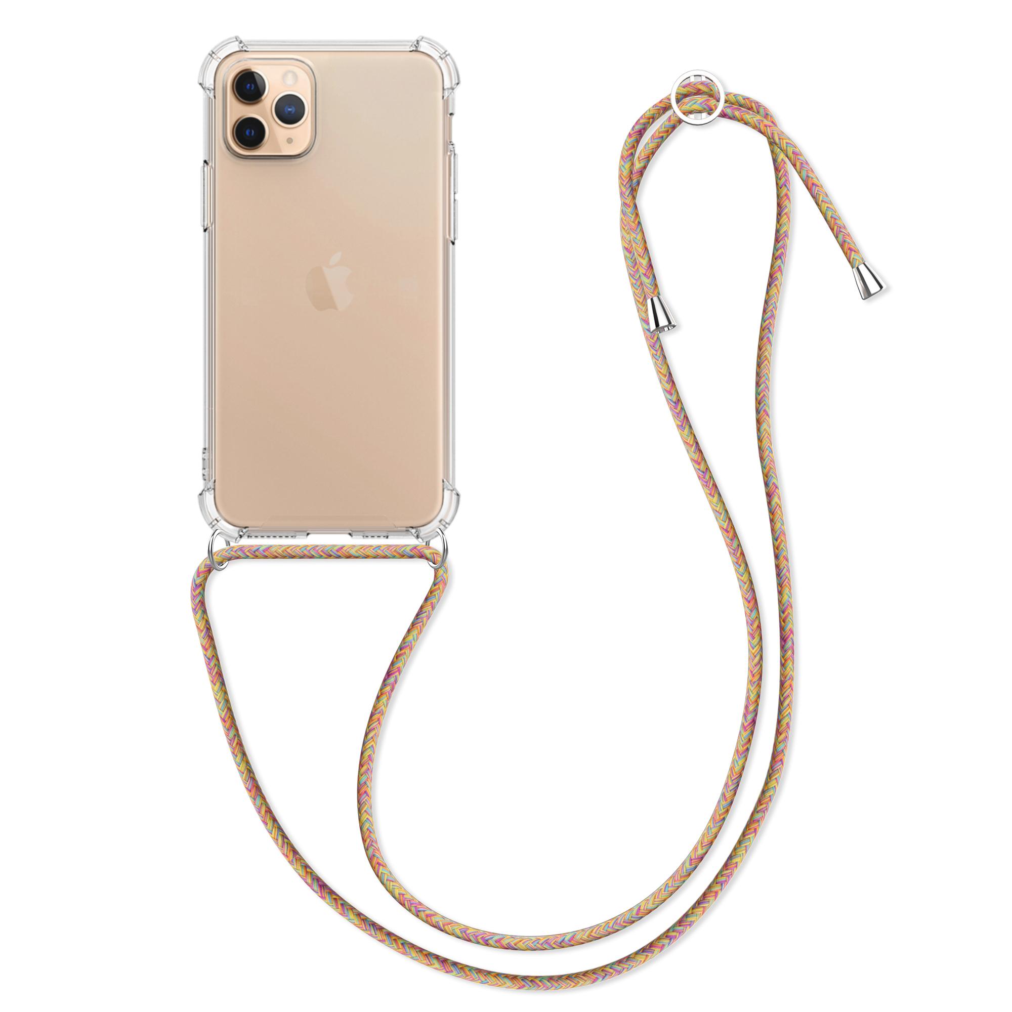 Kvalitní silikonové TPU pouzdro pro Apple iPhone 11 Pro - Transparent | tmavě růžová | fialová