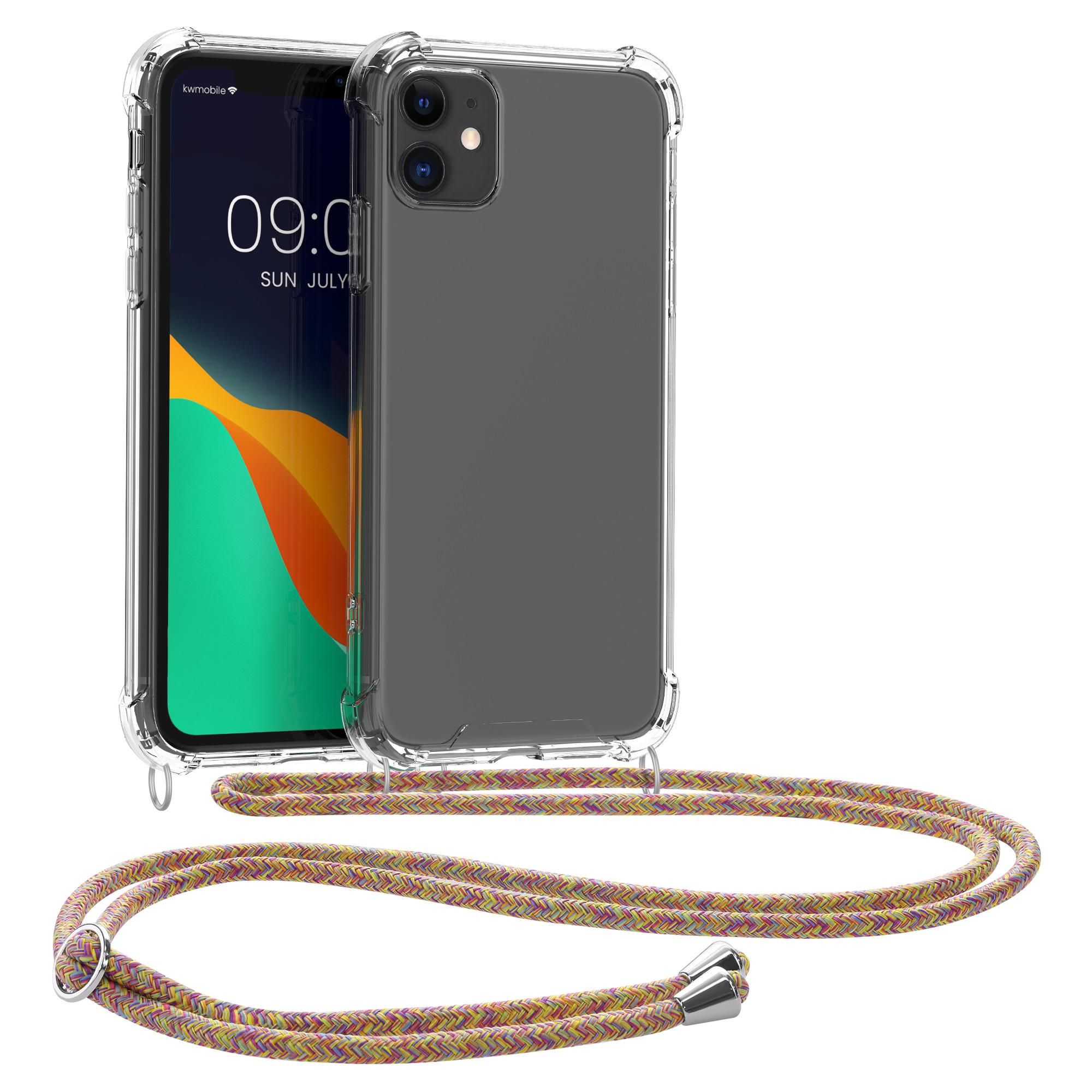 Kvalitní silikonové TPU pouzdro pro Apple iPhone 11 - Transparent | tmavě růžová | fialová