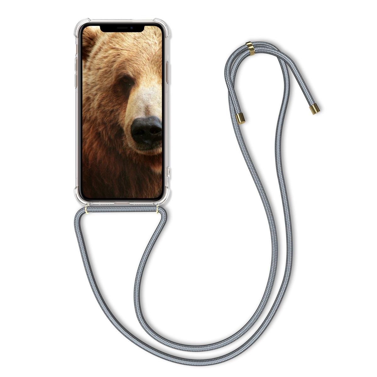 Kvalitní silikonové TPU pouzdro pro Apple iPhone 11 Pro Max - Transparent | Light Gray