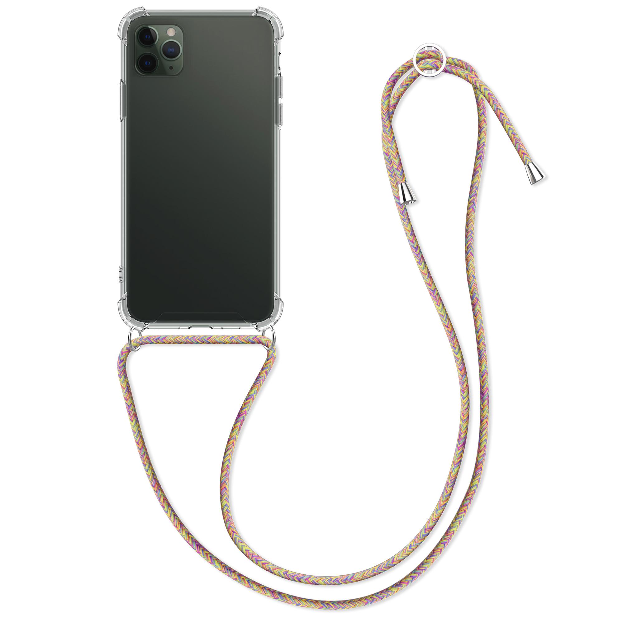 Kvalitní silikonové TPU pouzdro pro Apple iPhone 11 Pro Max - Transparent | tmavě růžová | fialová