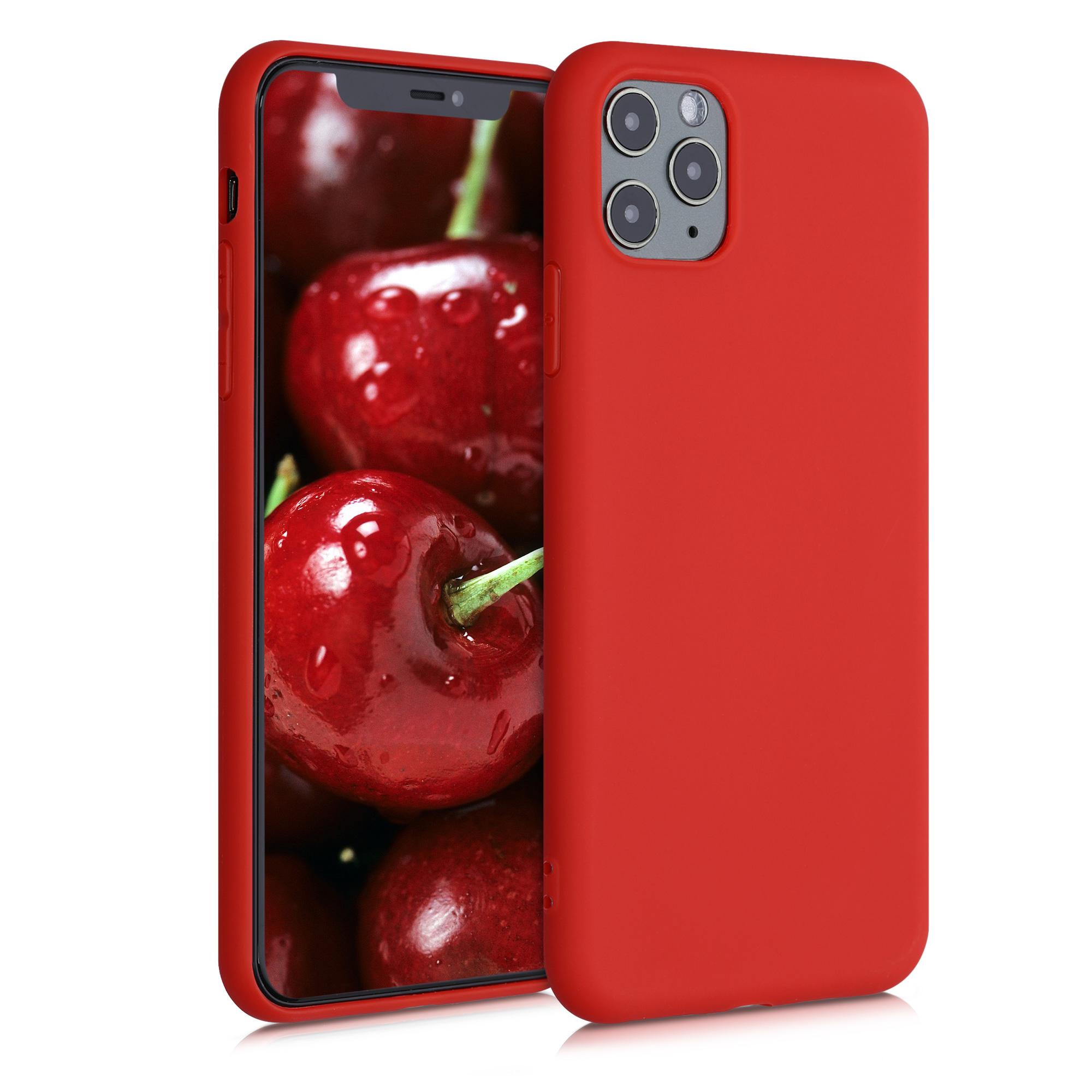 Kvalitní silikonové TPU pouzdro pro Apple iPhone 11 Pro Max - Neon Red