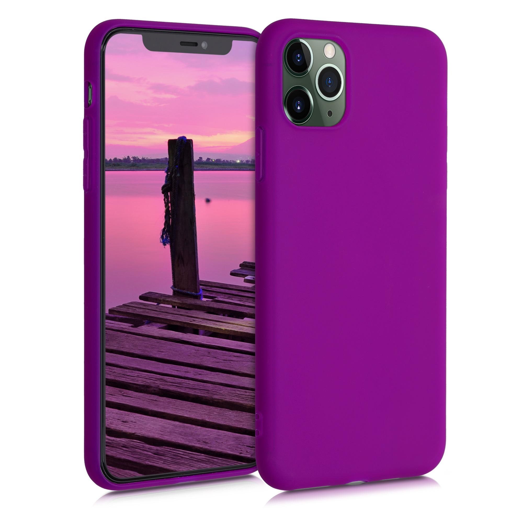 Kvalitní silikonové TPU pouzdro pro Apple iPhone 11 Pro Max - Neon Violet