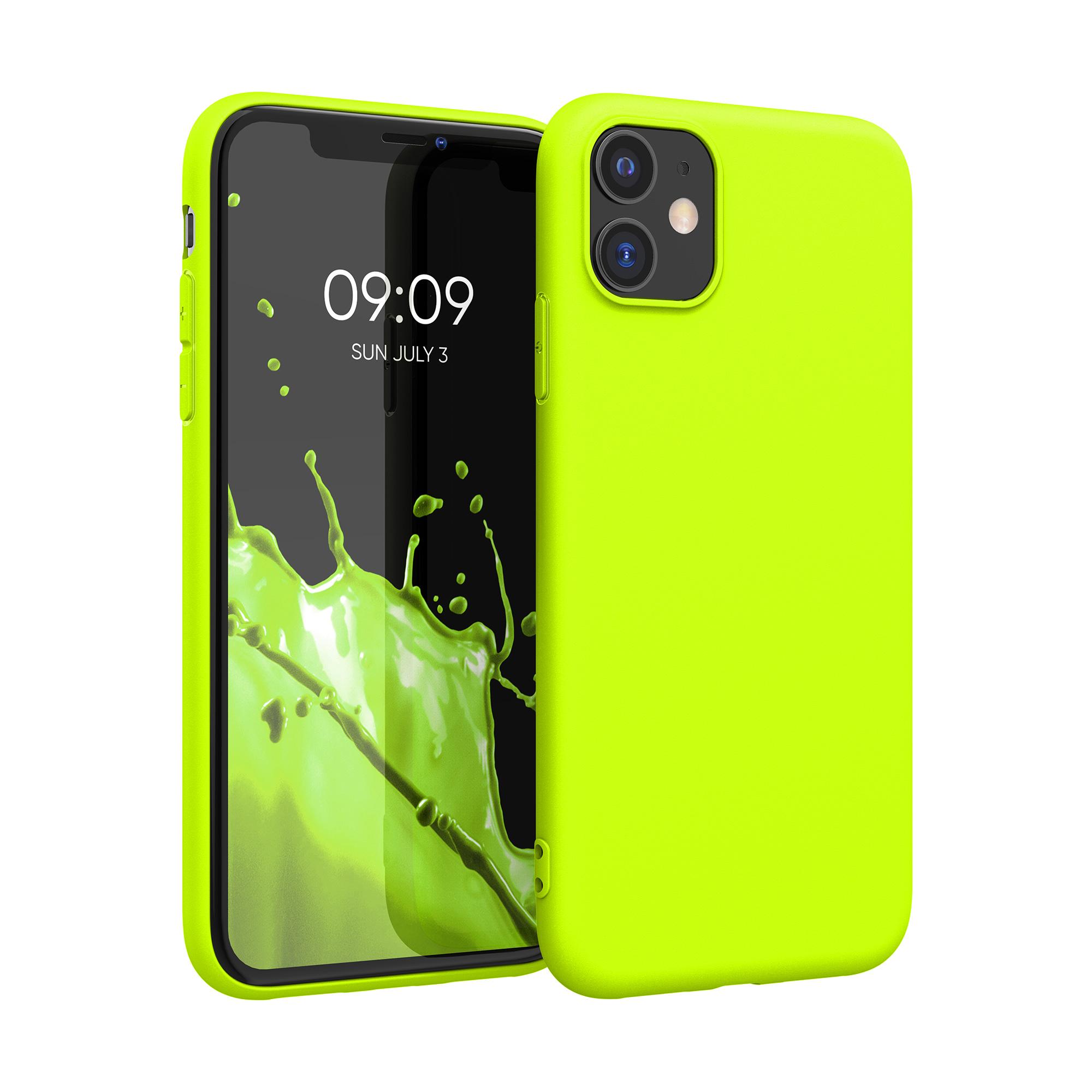Kvalitní silikonové TPU pouzdro pro Apple iPhone 11 - Neon Yellow