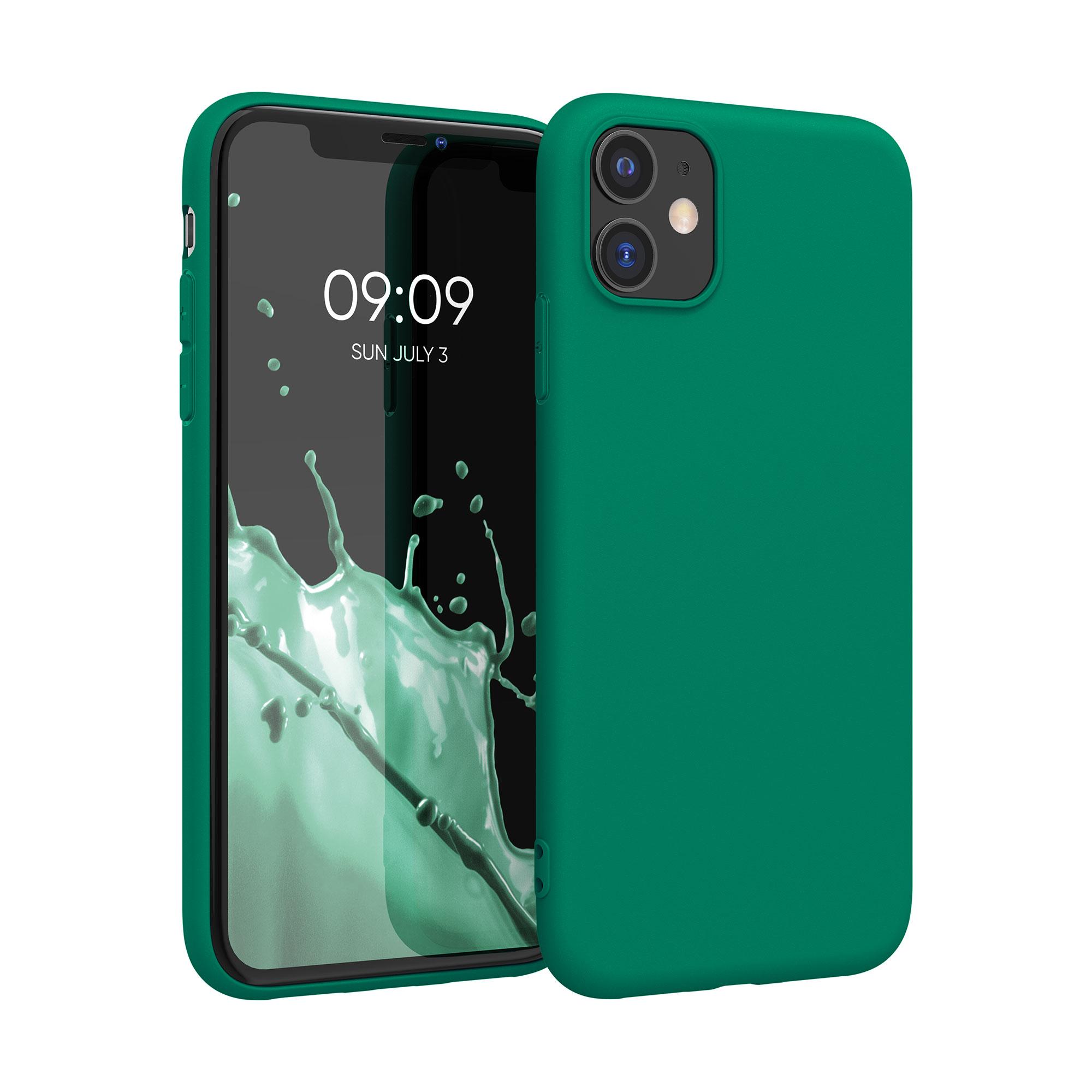Kvalitní silikonové TPU pouzdro pro Apple iPhone 11 - Smaragdová zeleň