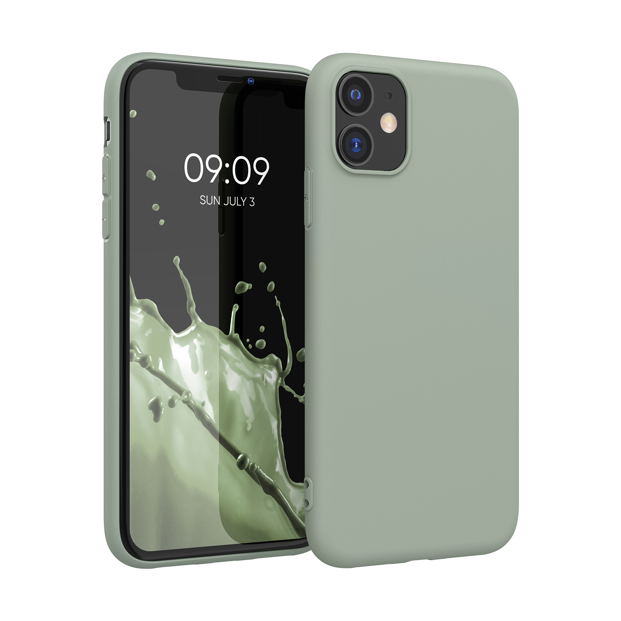 Kvalitní silikonové TPU pouzdro pro Apple iPhone 11 - Gray Green